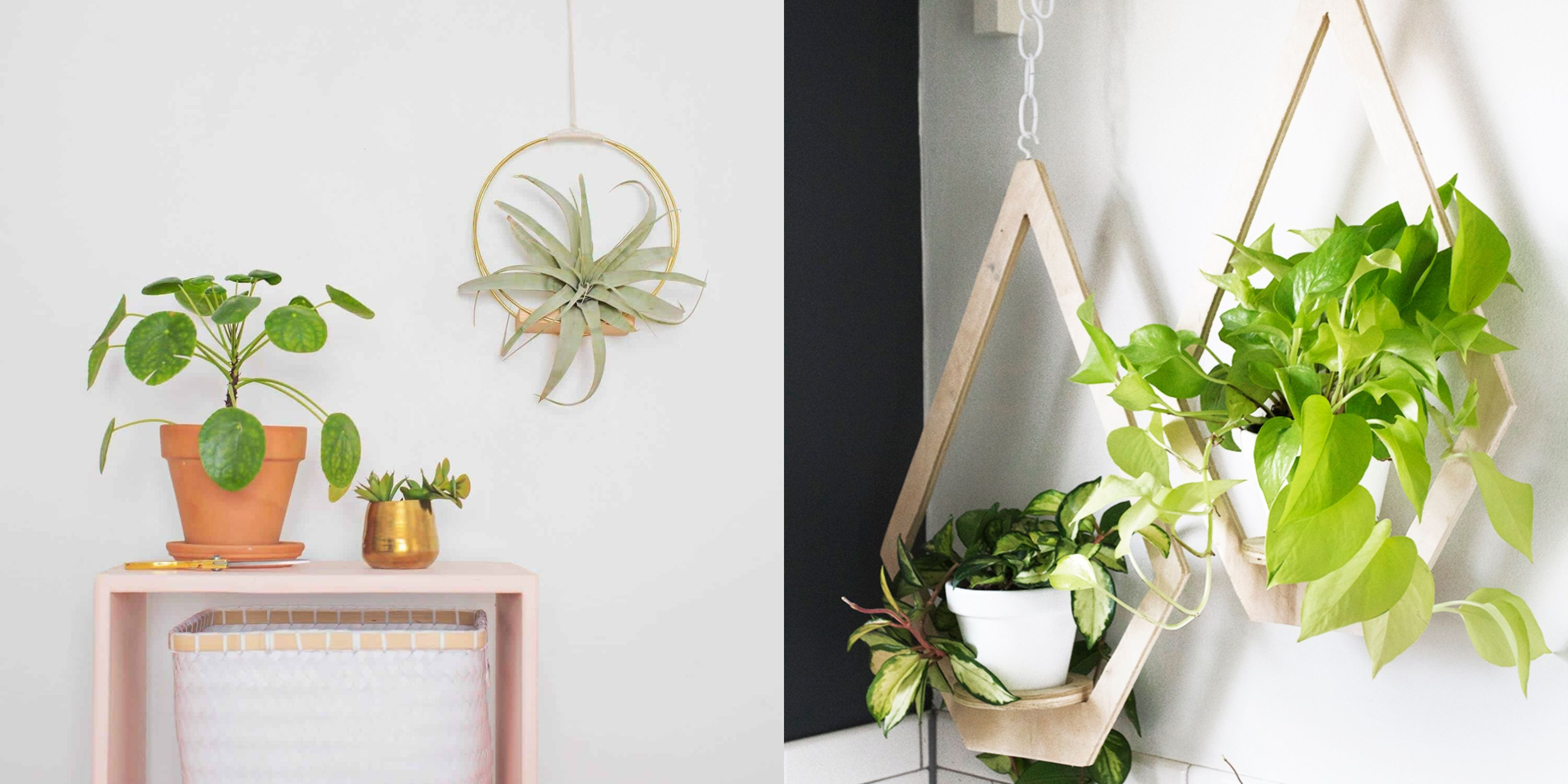 30+ Creative Ways To Plant A Vertical Garden - How To Make A with Farm Metal Wall Rack and 3 Tin Pot With Hanger Wall Decor (Image 4 of 30)