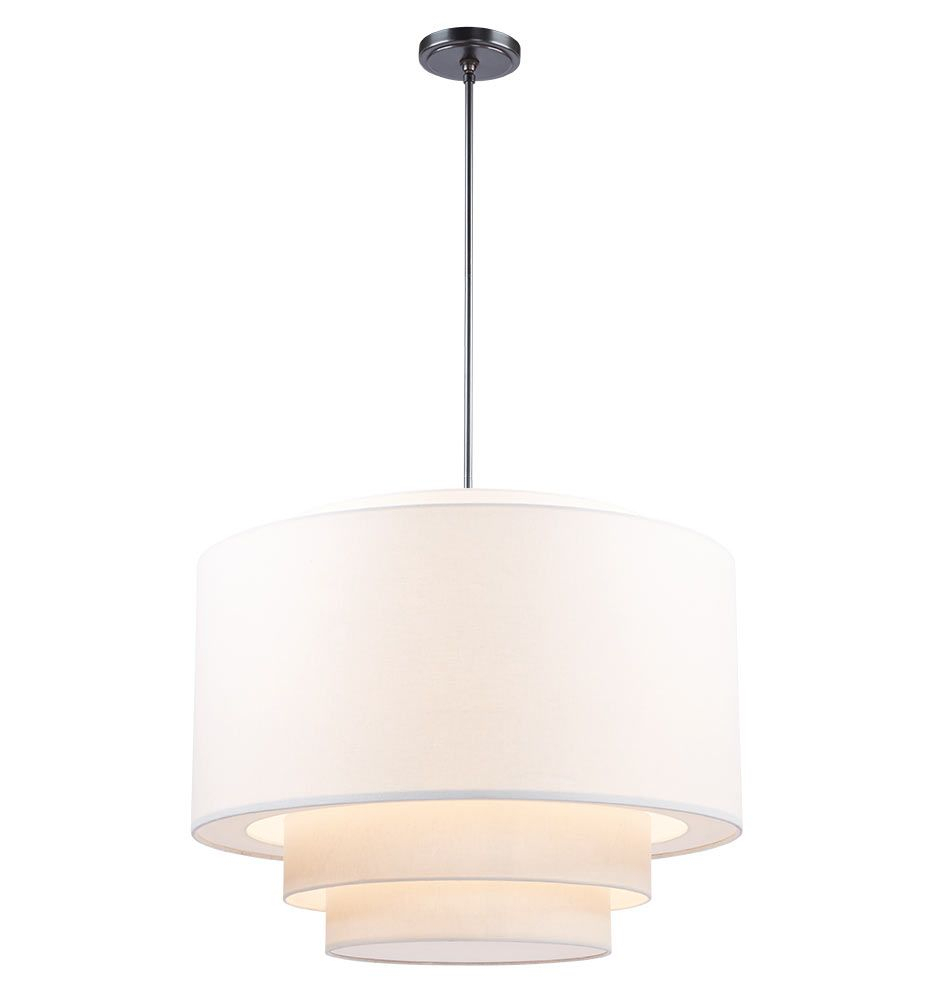 "30"" Tiered Drum Pendant In 2019 