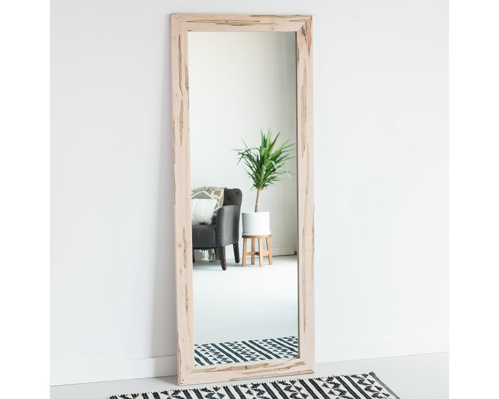 30X60 Ambrosia Wormy Maple Full Length Mirror, Floor Mirror, Wardrobe Mirror, Leaning Mirror, Vanity Mirror, Modern, Rustic, Farmhouse Pertaining To Handcrafted Farmhouse Full Length Mirrors (View 3 of 30)