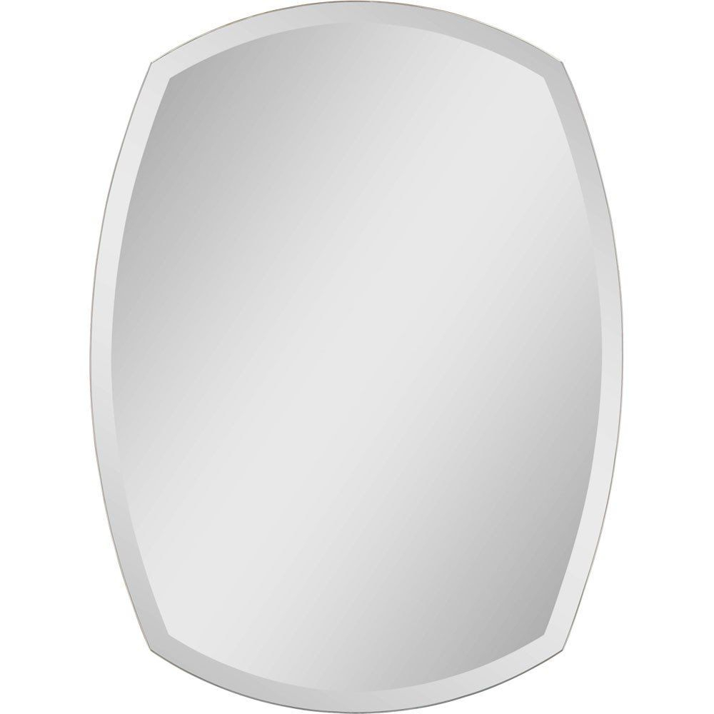 32 Inch Oval Frameless Beveled | Small Bathroom | Frameless In Wallingford Large Frameless Wall Mirrors (View 23 of 30)