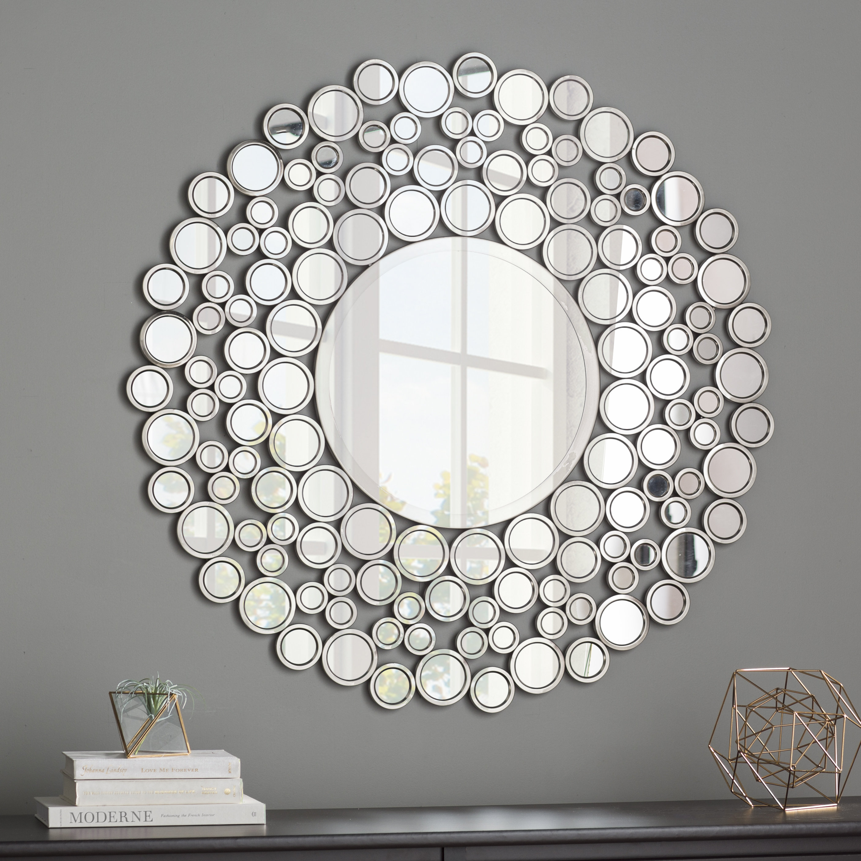 36 Inch Round Wall Mirror | Wayfair Regarding Tata Openwork Round Wall Mirrors (View 15 of 30)