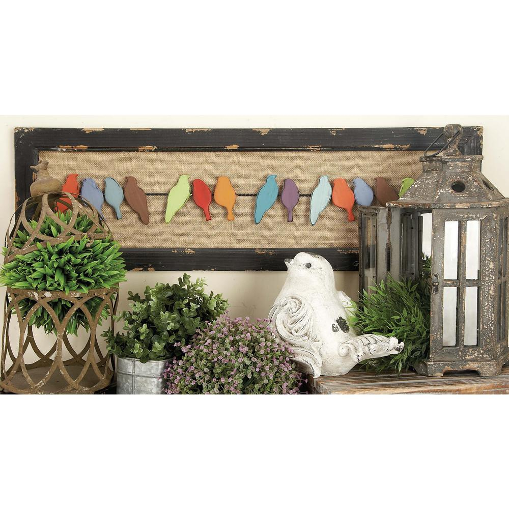 38 In. X 12 In. Rustic Charms Birds On Wire Wall Decor In Distressed Wood  And Iron intended for Birds On A Wire Wall Decor (Image 1 of 30)