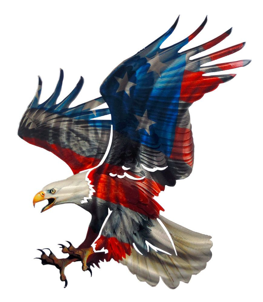 3D Patriotic Eagle With American Flag Design Laser Cut Metal Intended For American Flag 3D Wall Decor (Image 4 of 30)