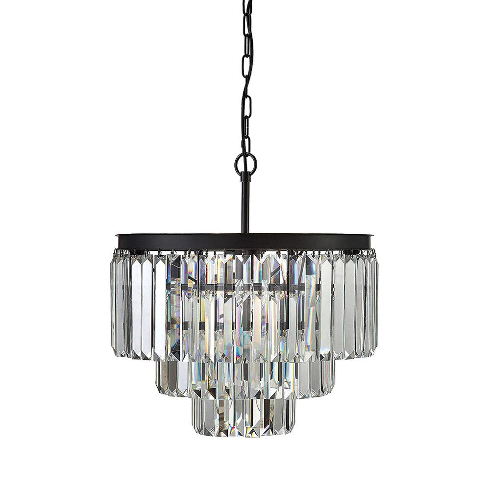 3R Studios 9-Light Crystal Chandelier regarding Camilla 9-Light Candle Style Chandeliers (Image 2 of 30)