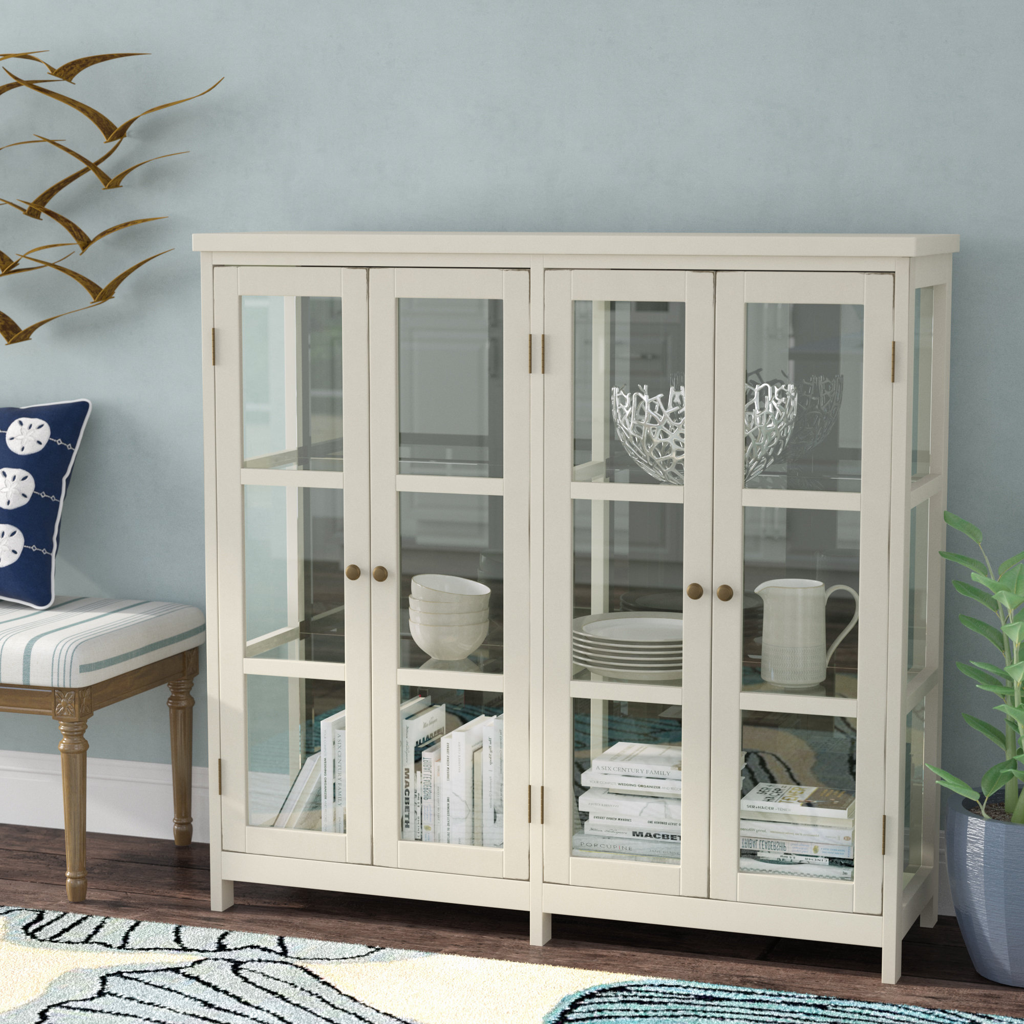 4 Door Accent Cabinet with Eau Claire 6 Door Accent Cabinets (Image 1 of 30)