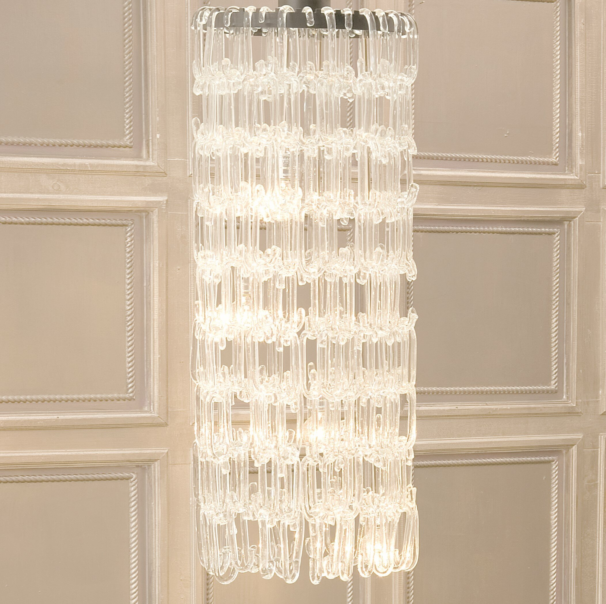 4 Light Chandelier With Regard To Rockland 4 Light Geometric Pendants (View 12 of 30)