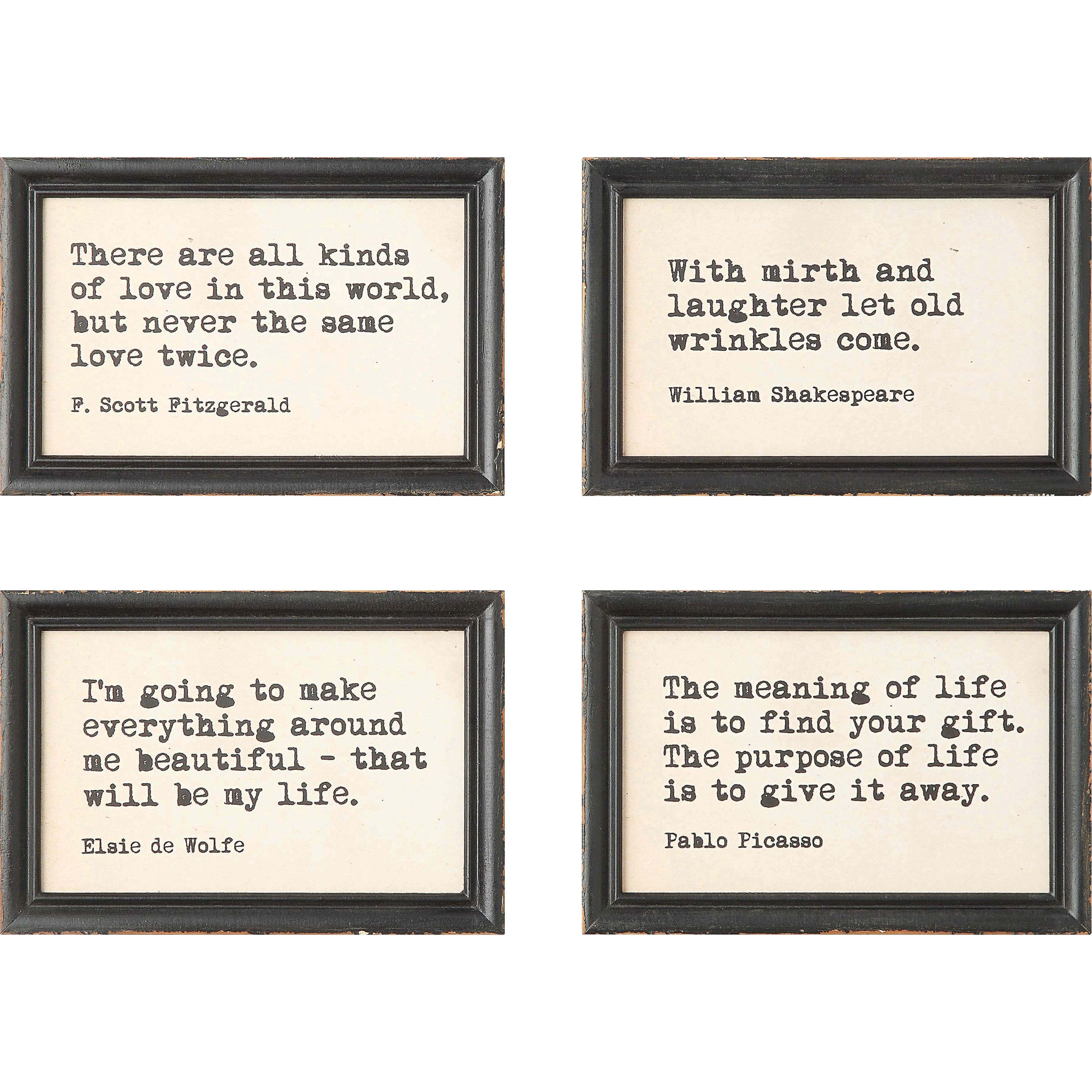 4 Piece Framed Wall Art Set | Pretty Pictures | Frames On Throughout 4 Piece Metal Wall Decor Sets (View 7 of 30)