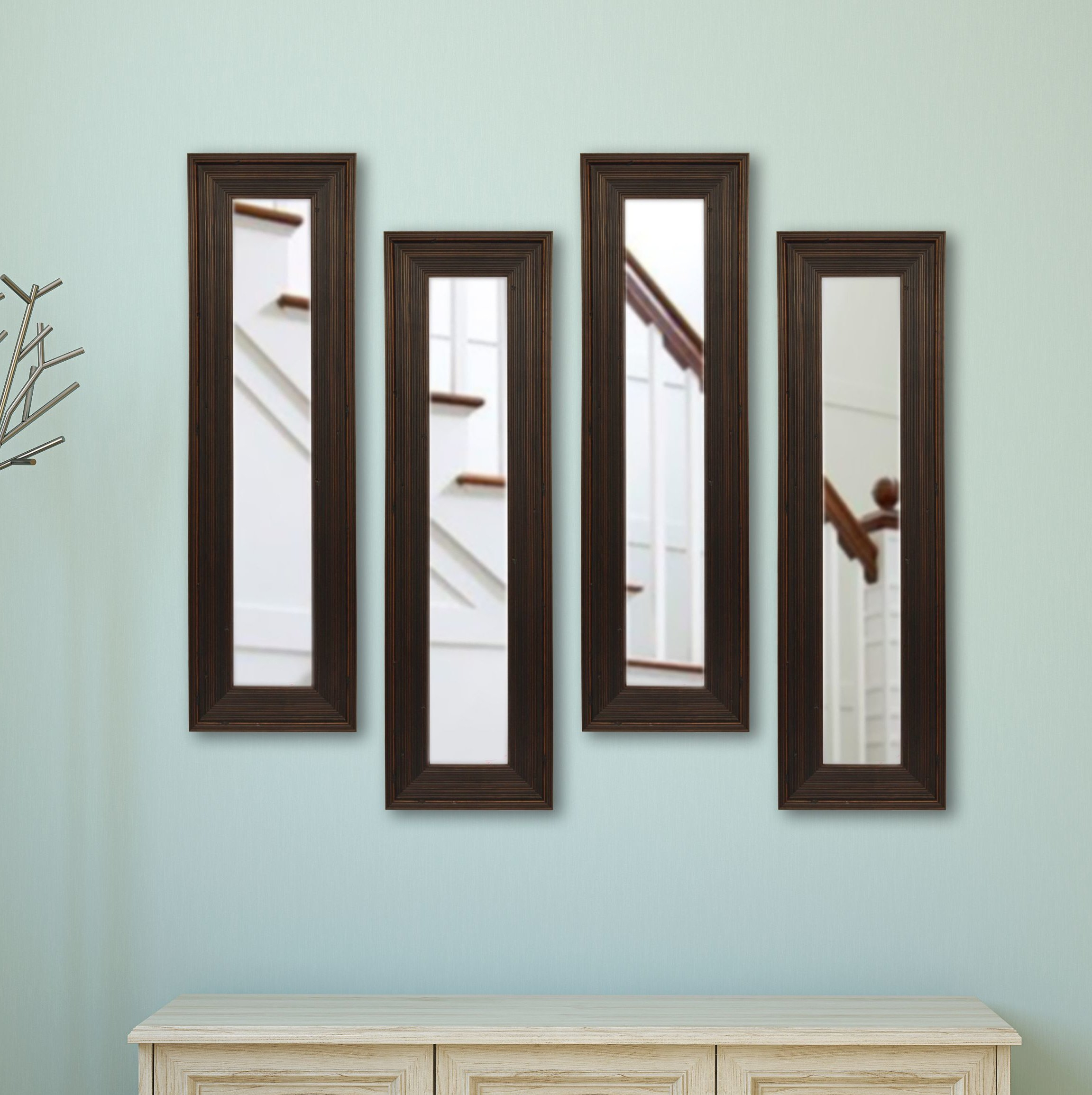 4 Piece Kincannon Modern & Contemporary Mirror Set For 4 Piece Wall Decor Sets By Charlton Home (View 7 of 30)