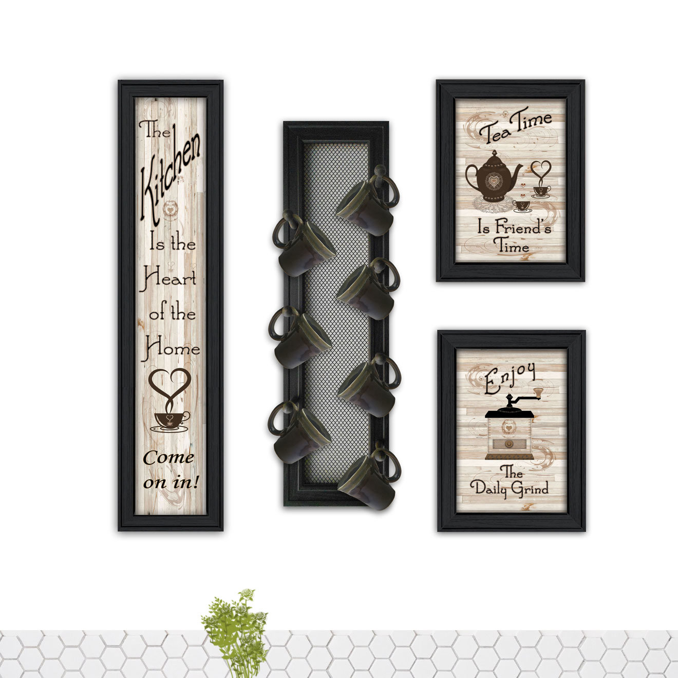4 Piece Kitchen Collection V Wall Décor Set Regarding 4 Piece Wall Decor Sets (View 4 of 30)