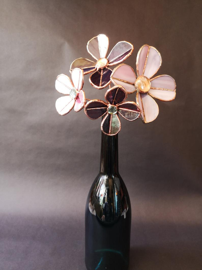 4 Stained Glass Purple Clematis - Montana pertaining to Clematite 1-Light Single Jar Pendants (Image 2 of 30)
