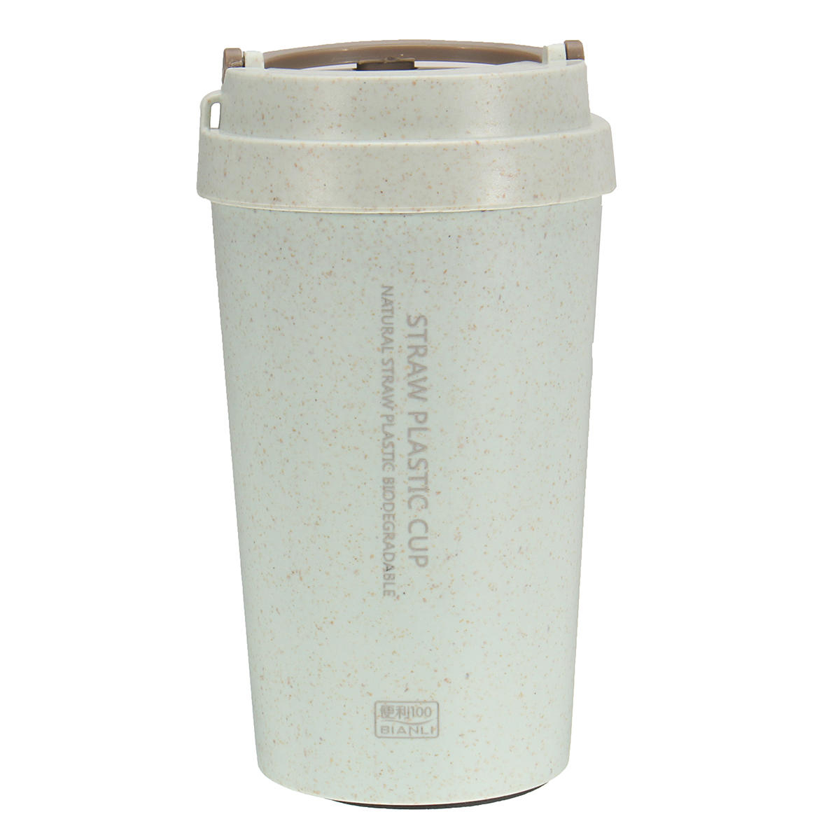 400L Wheat Straw Portable Double-Wall Vacuum Bottle Coffee Cup Insulated  Mug Water Bottle intended for Decorative Three Stacked Coffee Tea Cups Iron Widget Wall Decor (Image 4 of 30)