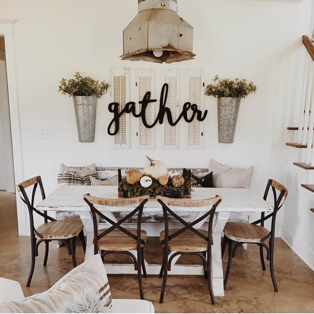 45+ Best Farmhouse Wall Decor Ideas And Designs For 2019 In Farm Metal Wall Rack And 3 Tin Pot With Hanger Wall Decor (View 23 of 30)