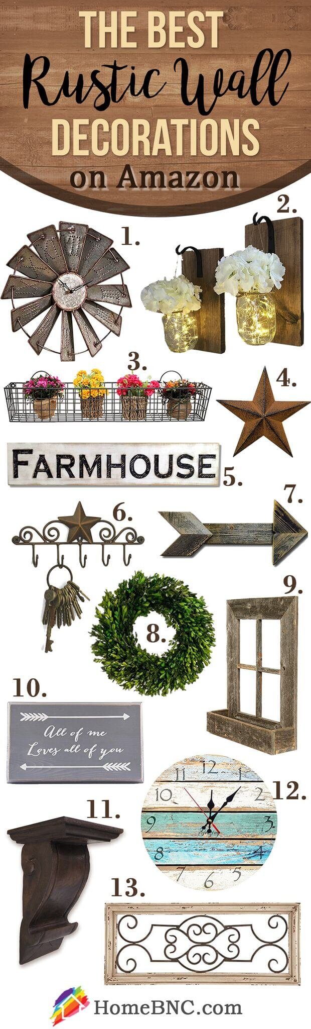 45+ Best Farmhouse Wall Decor Ideas And Designs For 2019 In Farm Metal Wall Rack And 3 Tin Pot With Hanger Wall Decor (View 9 of 30)