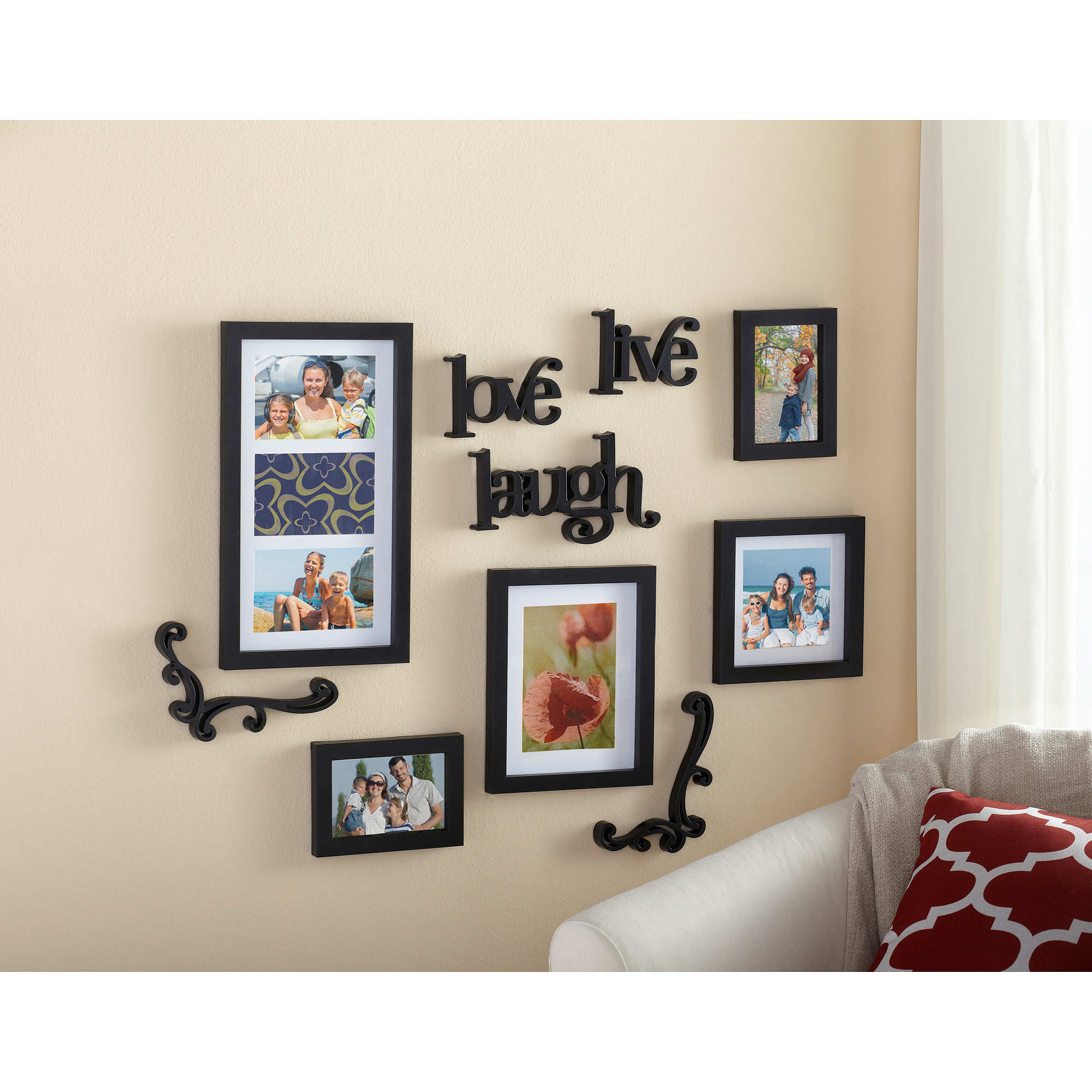 4x6 White Wood Picture Frame – Gallery Collection For Live Love Laugh 3 Piece Black Wall Decor Sets (View 10 of 30)