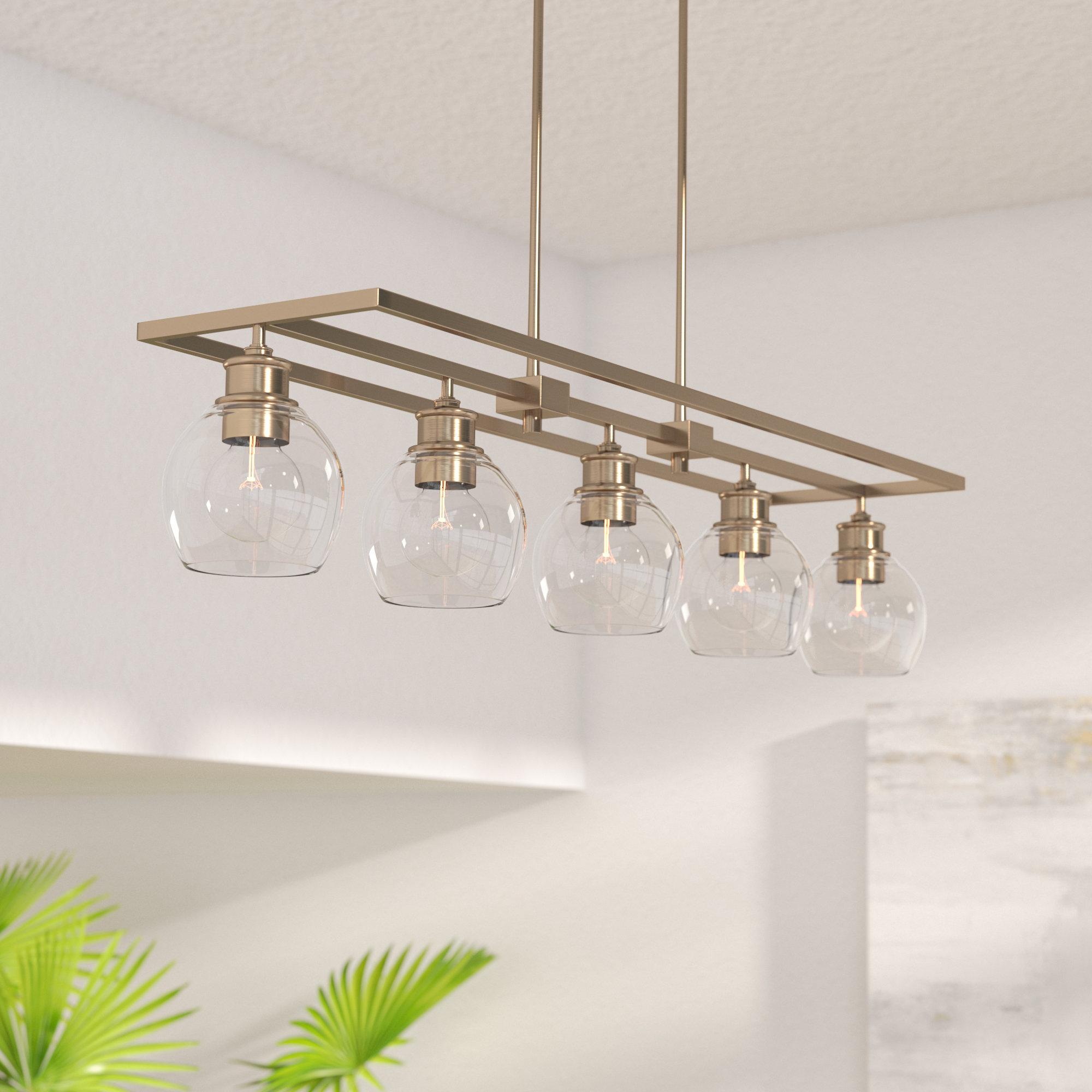 5 Light Kitchen Pendant | Wayfair In Hinerman 5 Light Kitchen Island Pendants (View 4 of 30)
