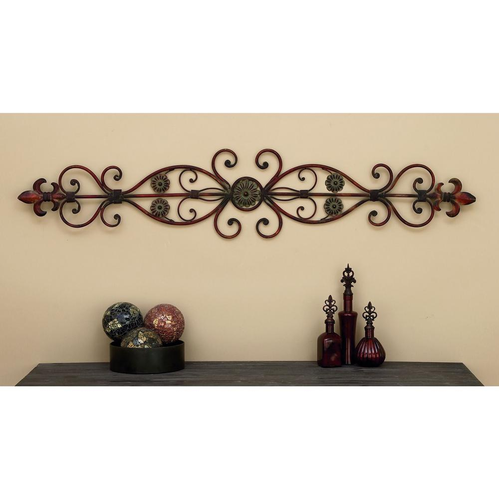 56 In. Fleur De Lis Door-Top Wall Decor intended for Ornate Scroll Wall Decor (Image 2 of 30)