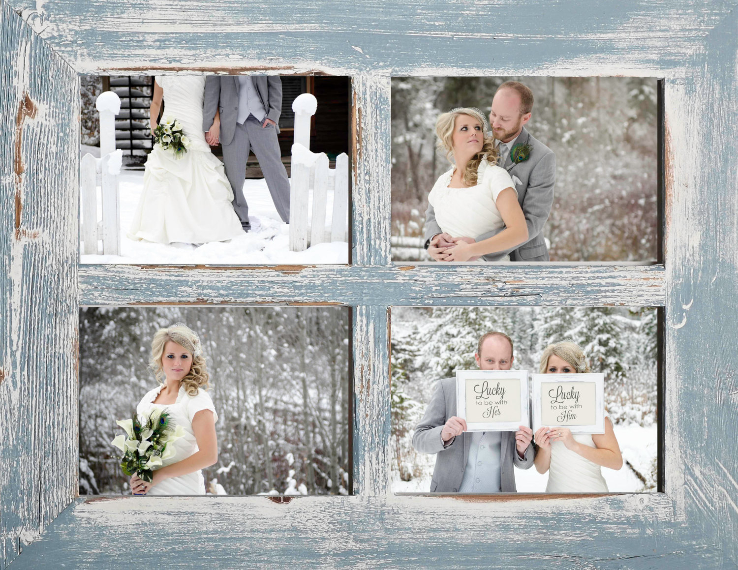 5X7 Collage Frame Barn Window Collage Picture Frame Sky Blue-Rustic  Wedding-Distressed Frame-Reclaimed-Collage Frame-Picture Frames in Old Rustic Barn Window Frame (Image 3 of 30)