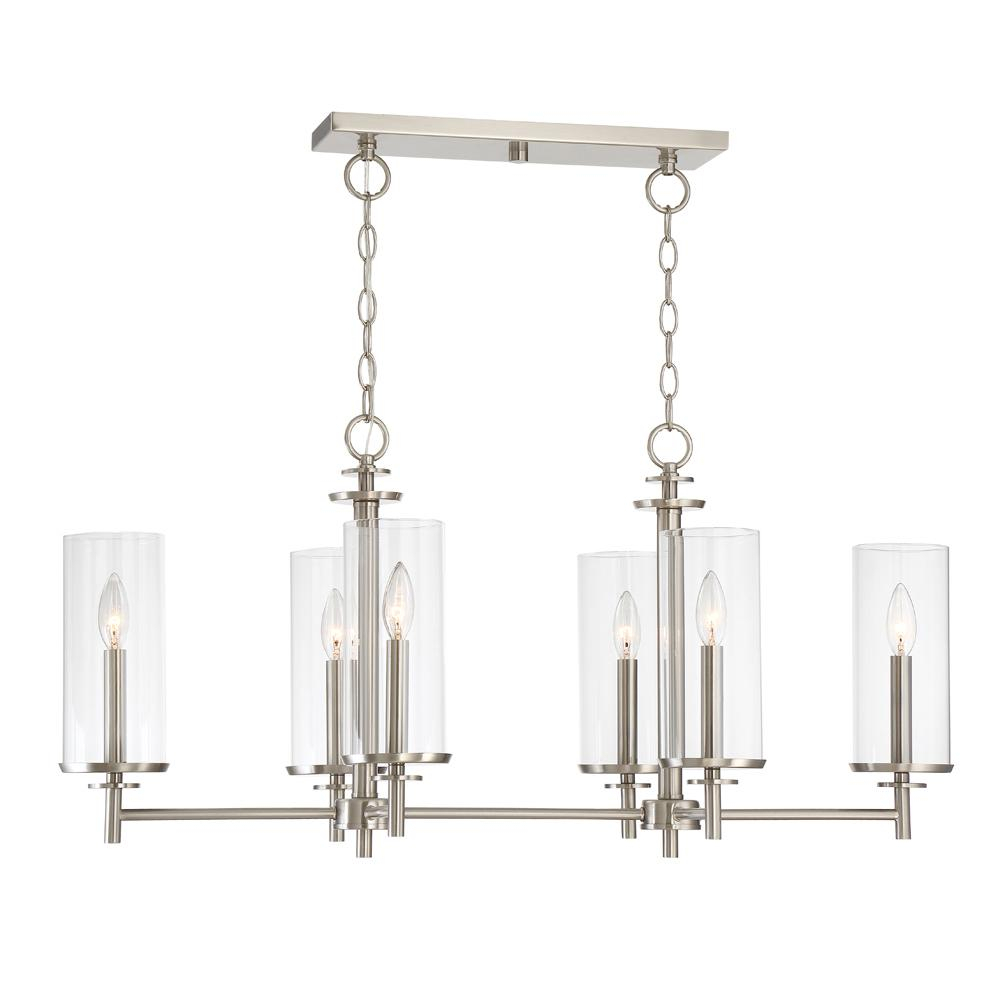 6 Light Kitchen Island Pendant In Bautista 6 Light Kitchen Island Bulb Pendants (View 1 of 30)