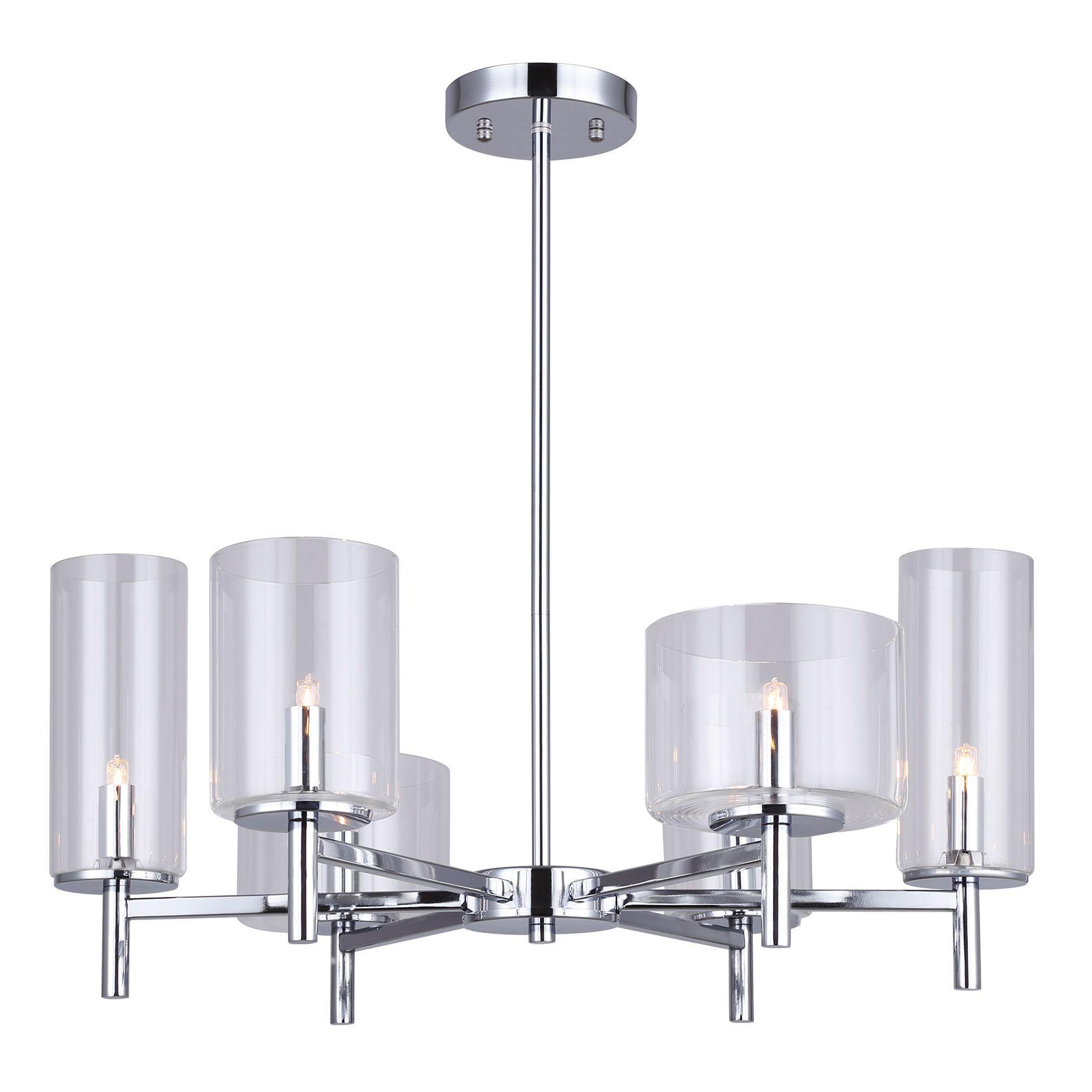 6 Light Malik Chandelier With La Sarre 3 Light Globe Chandeliers (Gallery 22 of 30)