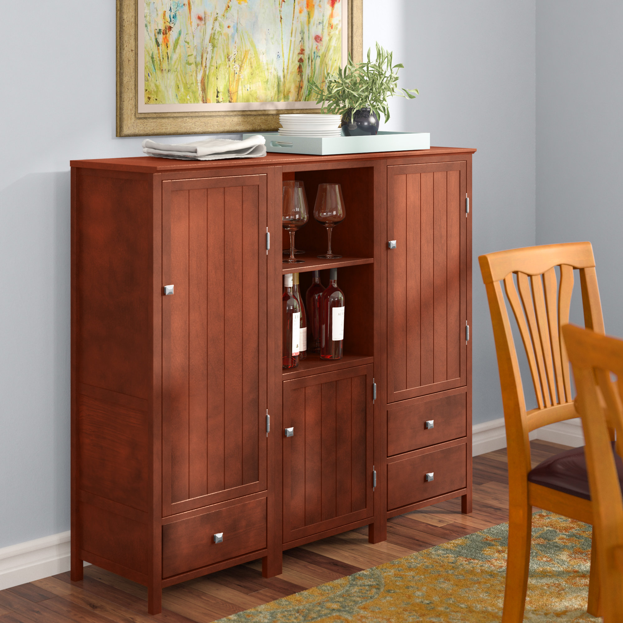 60 Inch Buffet Server | Wayfair Intended For Chaffins Sideboards (Photo 24 of 30)