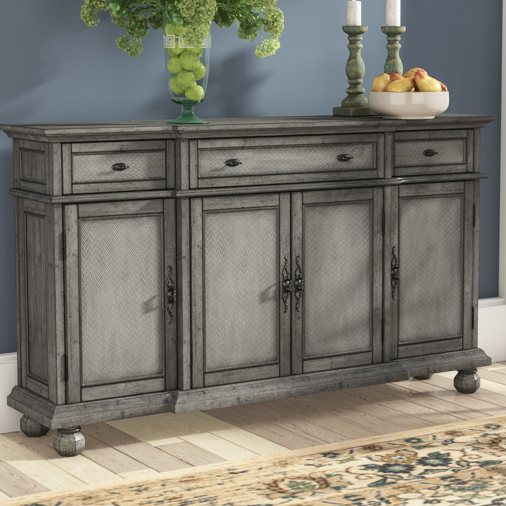 60 Inch Credenza | Wayfair With Regard To Chaffins Sideboards (Photo 12 of 30)