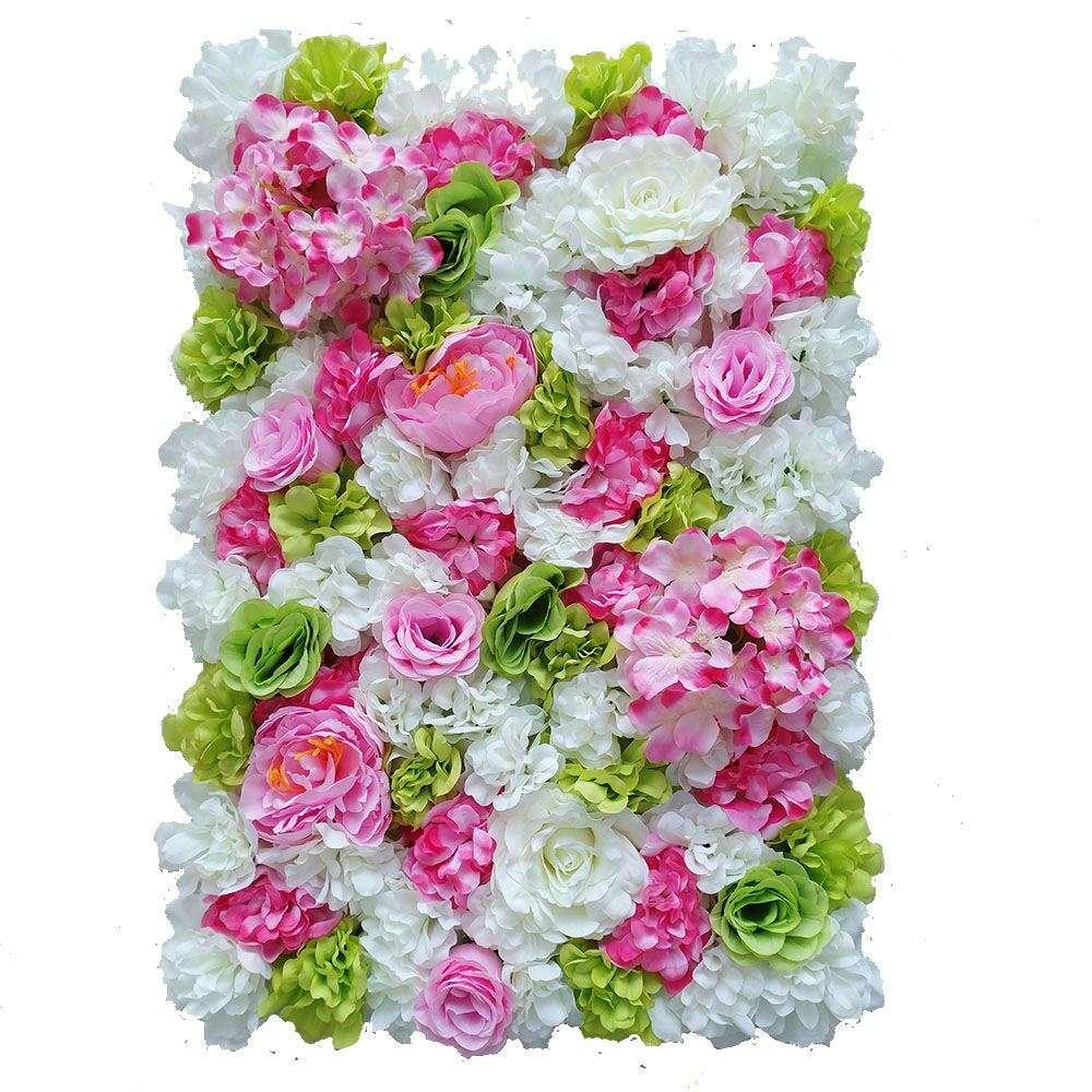 60X40 Cm Artificial Flower Wall Background Wedding Props Supplies Wall  Decoration Arches Silk Flower Rose Peony Window Studio Intended For Flower Wall Decor (Photo 22 of 30)