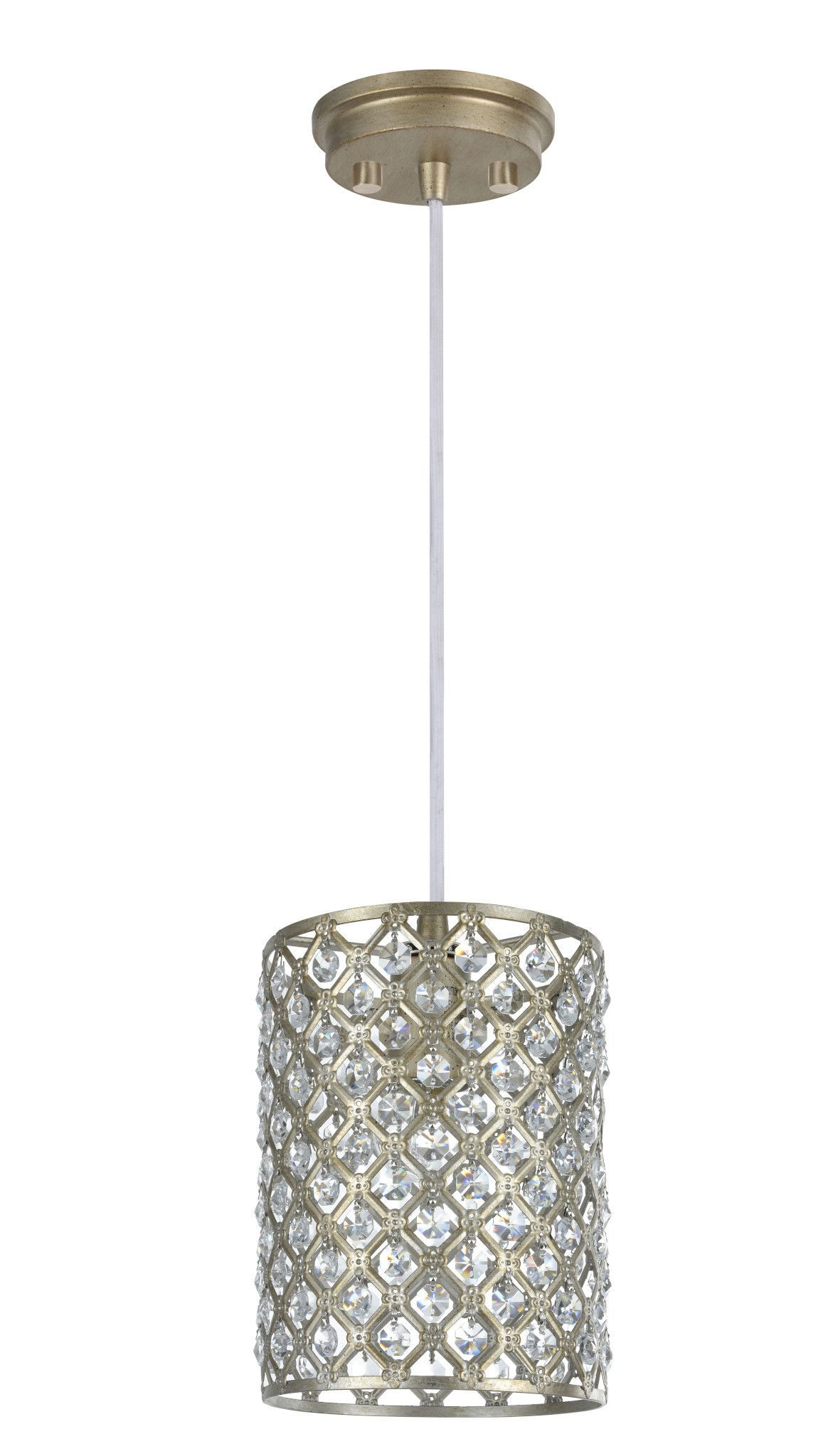 61005 Adjustable 1 Light Hanging Mini Pendant Light With Hurst 1 Light Single Cylinder Pendants (Gallery 10 of 30)