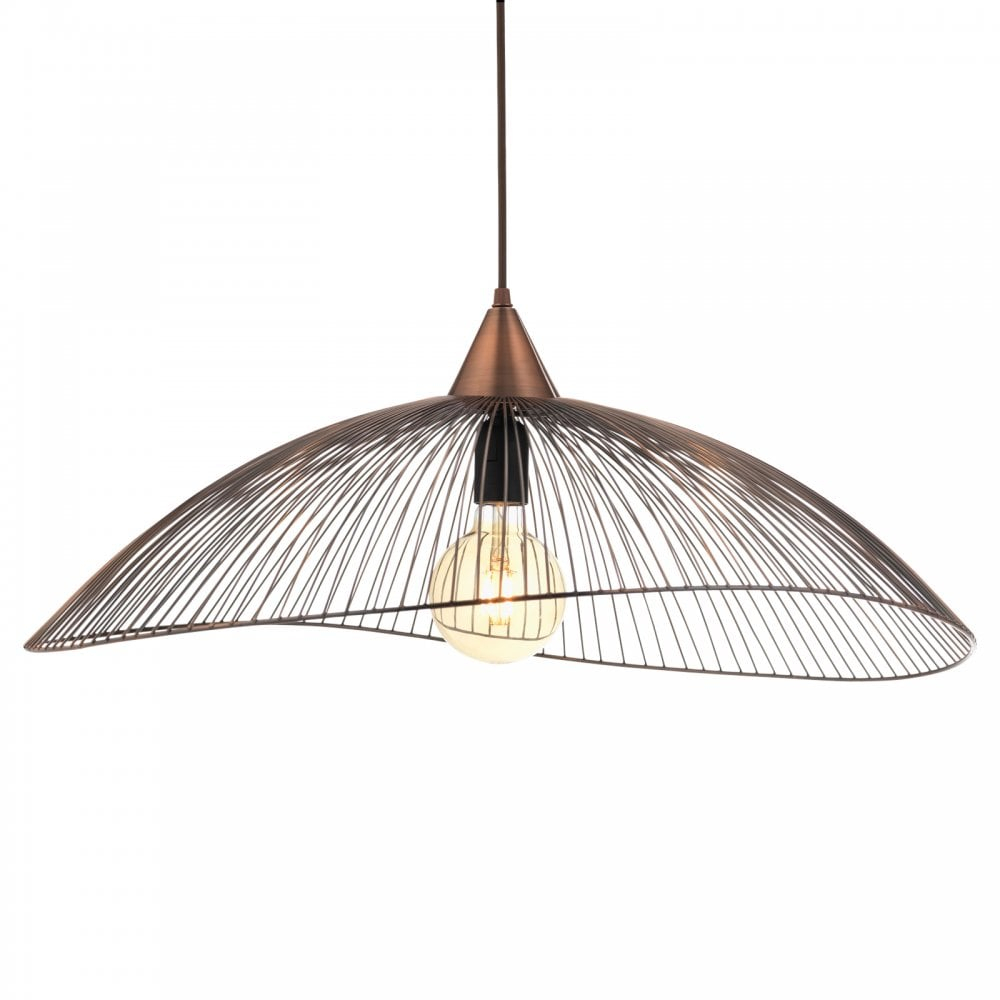 6178/1 Cu Helios Single Light Ceiling Pendant In Copper Intended For Terry 1 Light Single Bell Pendants (Photo 28 of 30)