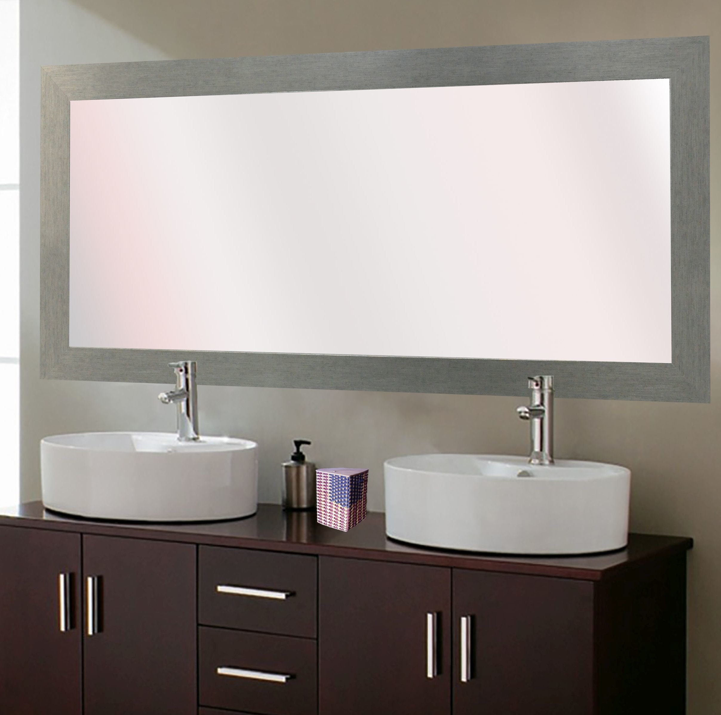 65 Inch Vanity Mirror | Wayfair With Regard To Landover Rustic Distressed Bathroom/vanity Mirrors (View 1 of 30)