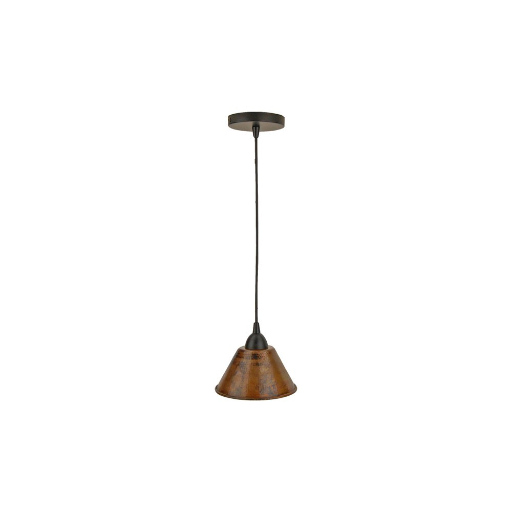 7 Inch Hammered Copper Cone Pendant Light in Moris 1-Light Cone Pendants (Image 4 of 30)