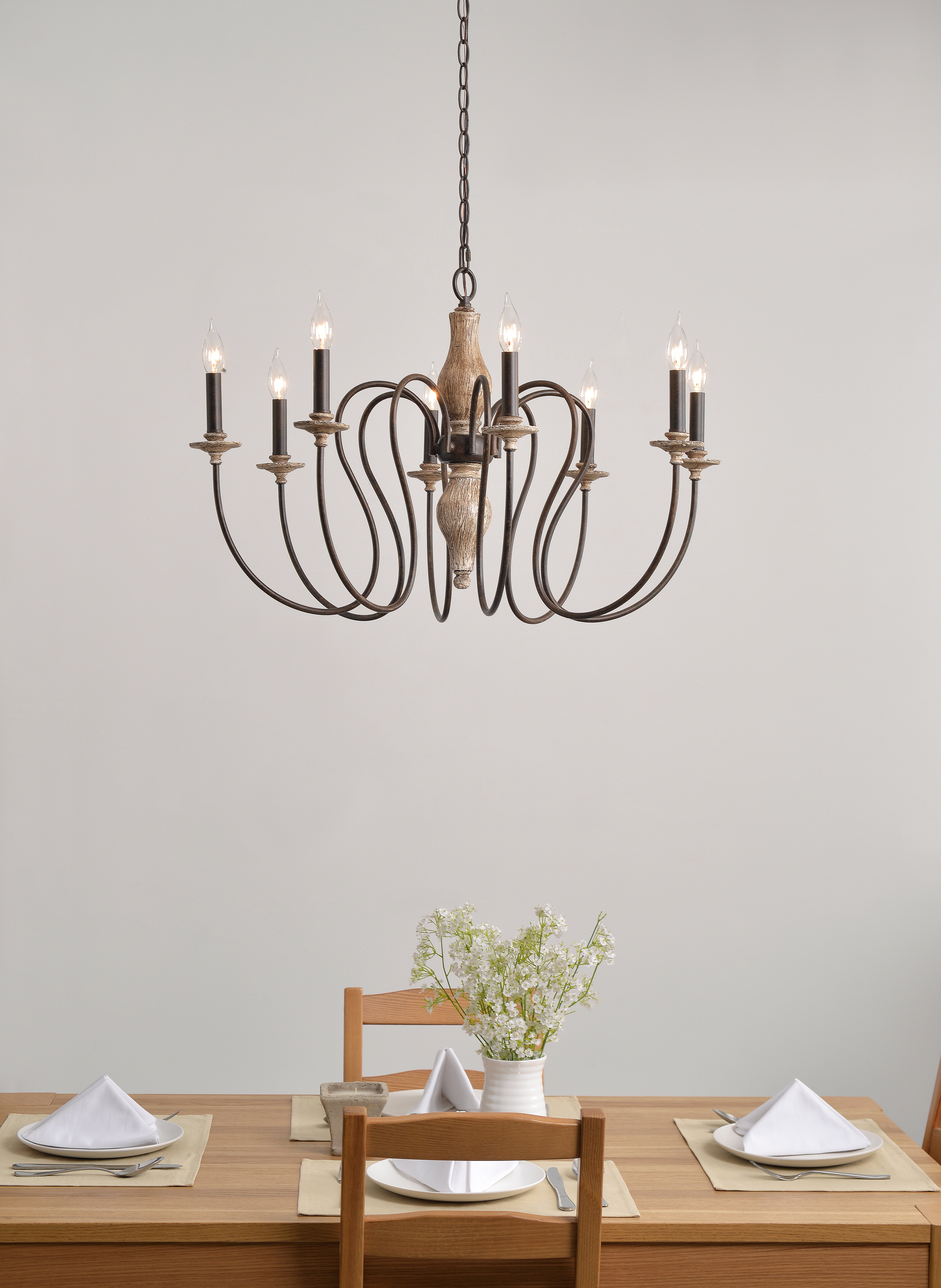 8-Light Candle Style Chandelier with regard to Watford 6-Light Candle Style Chandeliers (Image 1 of 30)