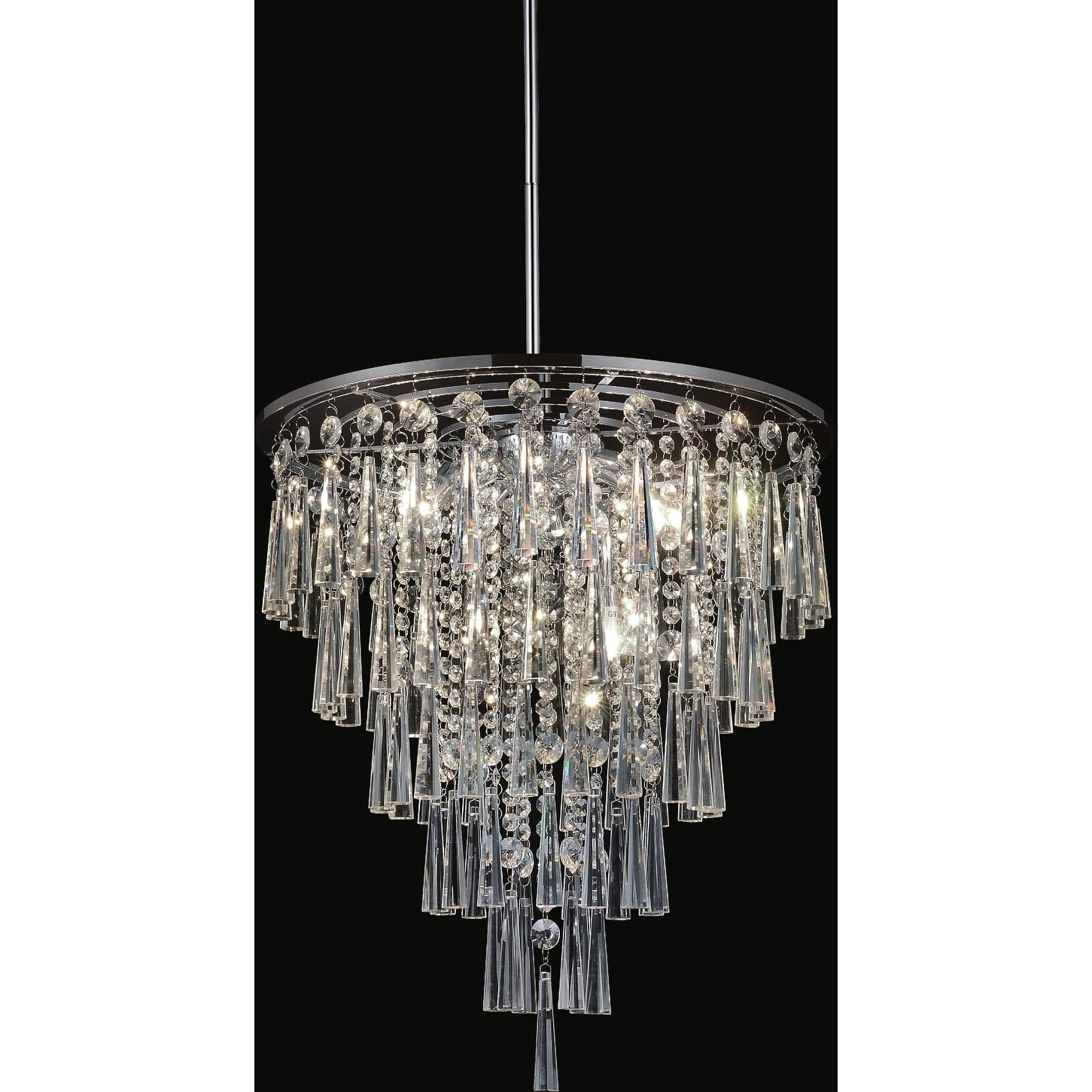 8 Light Chandelier With Chrome Finish In 2019 | Products Within Benedetto 5 Light Crystal Chandeliers (Photo 15 of 30)