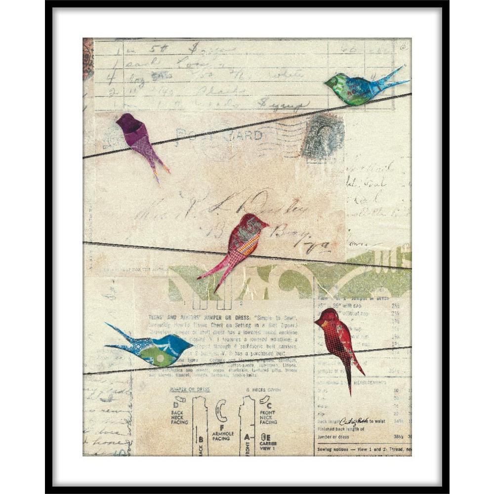 """9.75 In. X 11.75 In. """"birds On A Wire No Border""""framed Wall Art in Birds on a Wire Wall Decor (Image 4 of 30)"""
