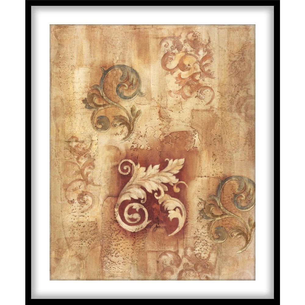 """9.75 In. X 11.75 In. """"italian Scroll Ii""""framed Wall Art inside Scroll Framed Wall Decor (Image 3 of 30)"""