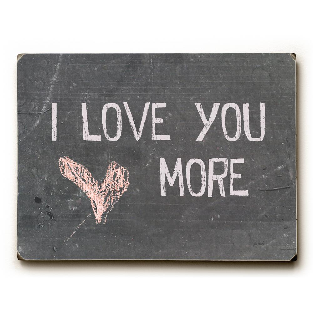 """9 In. X 12 In. """"i Love You More""""lisa Weedn """"solid Wood"""" Wall Art in 'Love You More' Wood Wall Decor (Image 5 of 30)"""