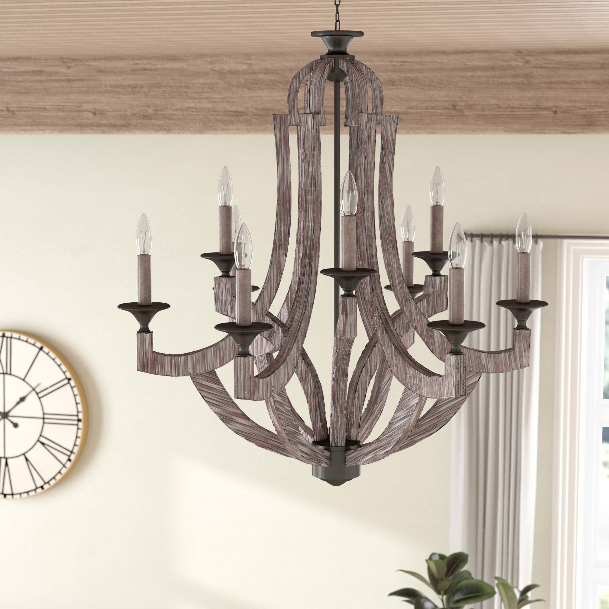 9 Light Candle Chandeliers | Wayfair pertaining to Camilla 9-Light Candle Style Chandeliers (Image 3 of 30)