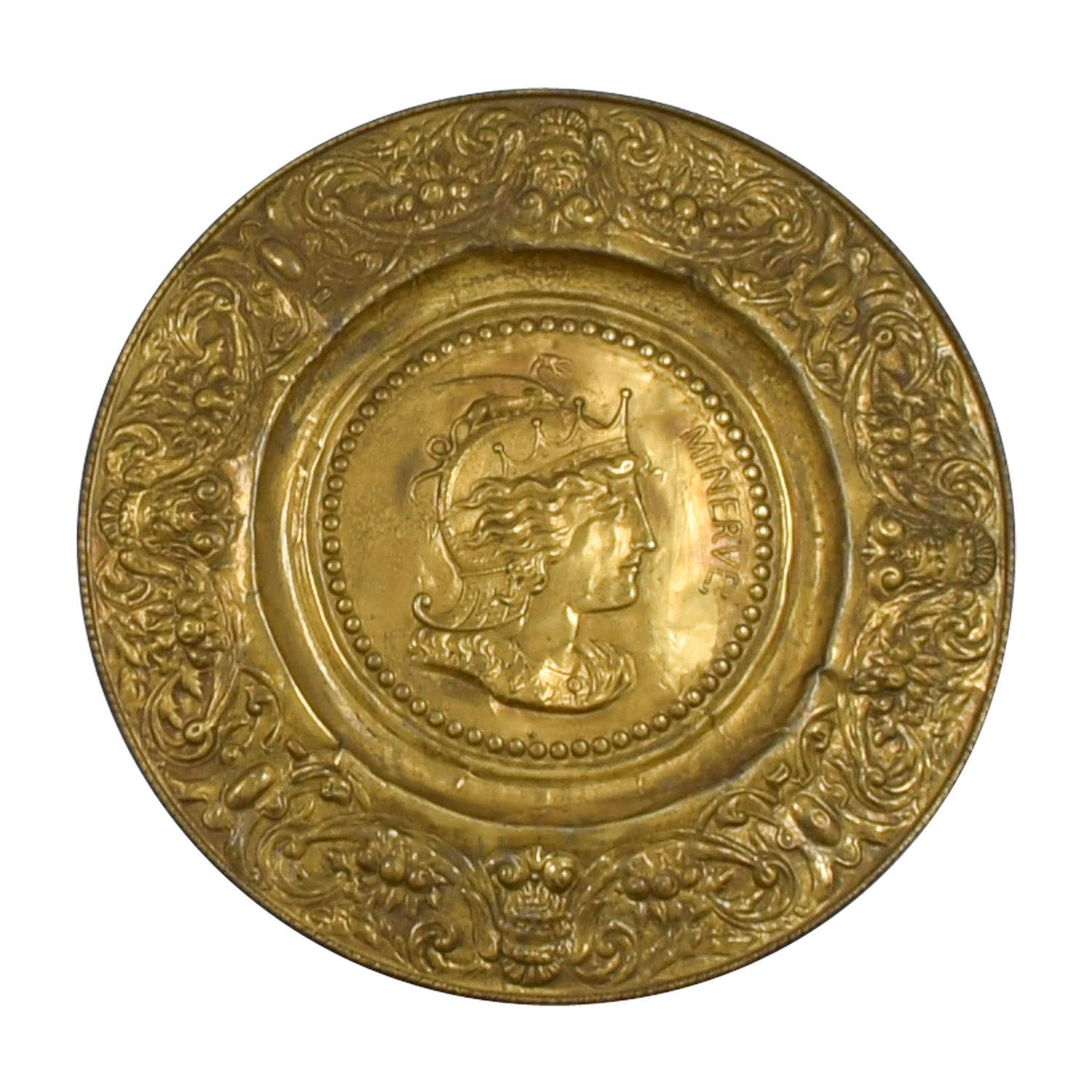 90% Off - Minerva Antique Gold Shield / Decor in Minerva Accent Mirrors (Image 1 of 30)