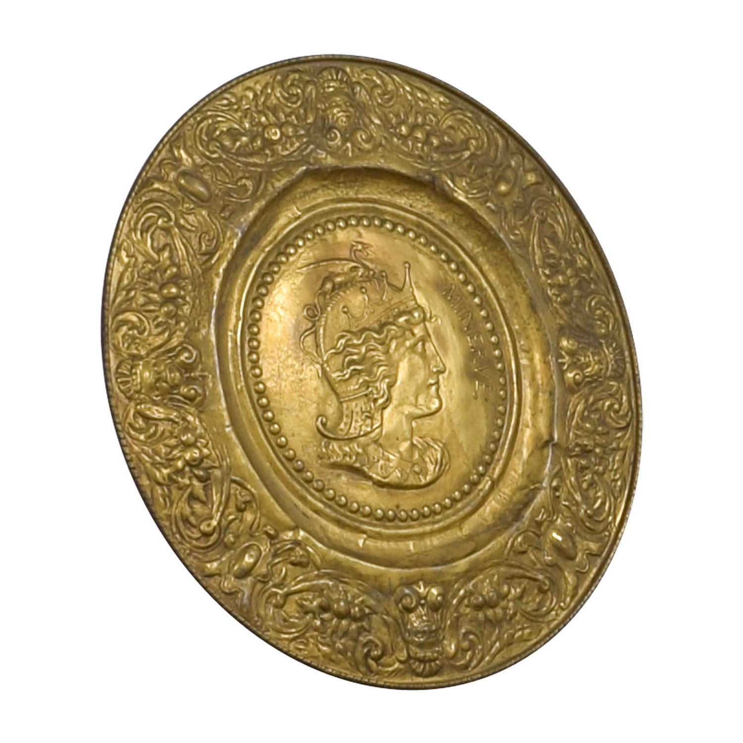 90% Off - Minerva Antique Gold Shield / Decor pertaining to Minerva Accent Mirrors (Image 2 of 30)