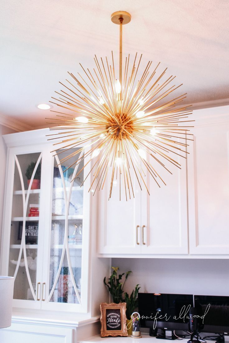 A Feminine Home Office Design For A Girl Who Loves Comfy Within Nelly 12 Light Sputnik Chandeliers (View 17 of 30)