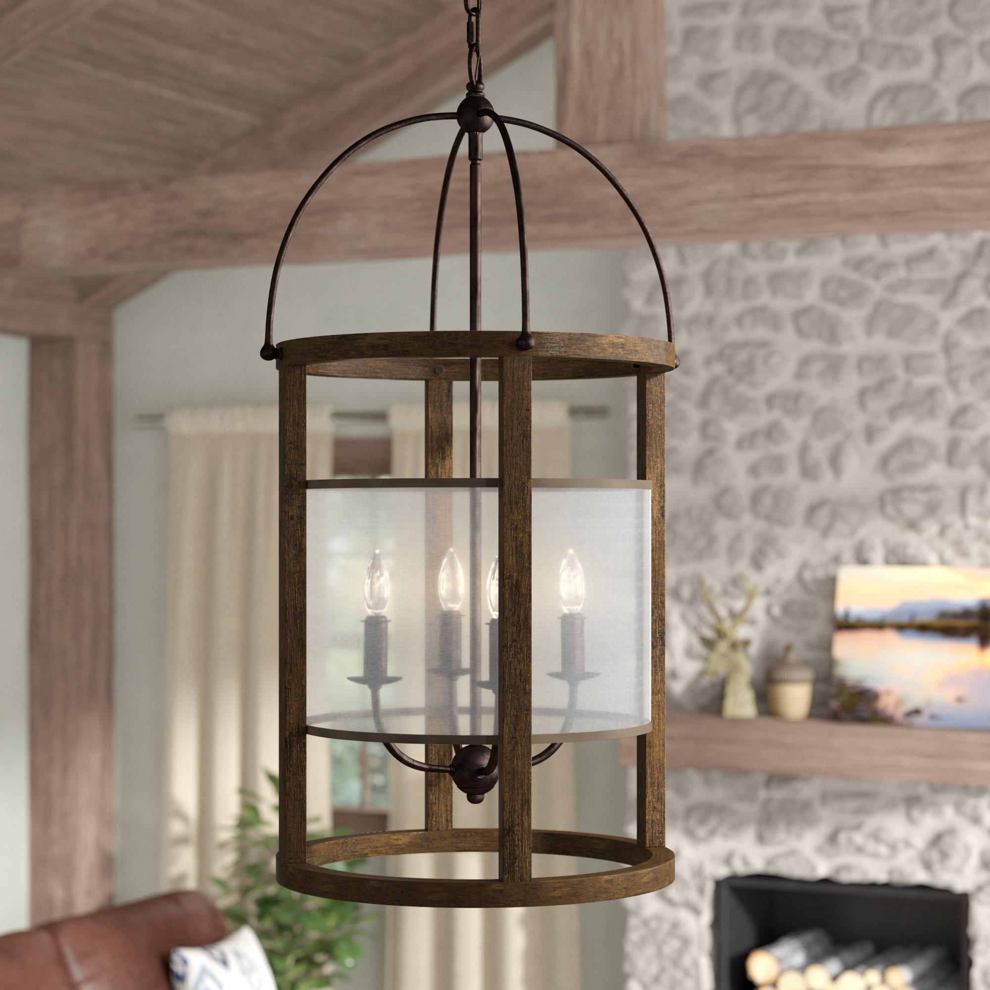 Aadhya 4 Light Lantern Pendant Within Aadhya 5 Light Drum Chandeliers (Image 1 of 30)