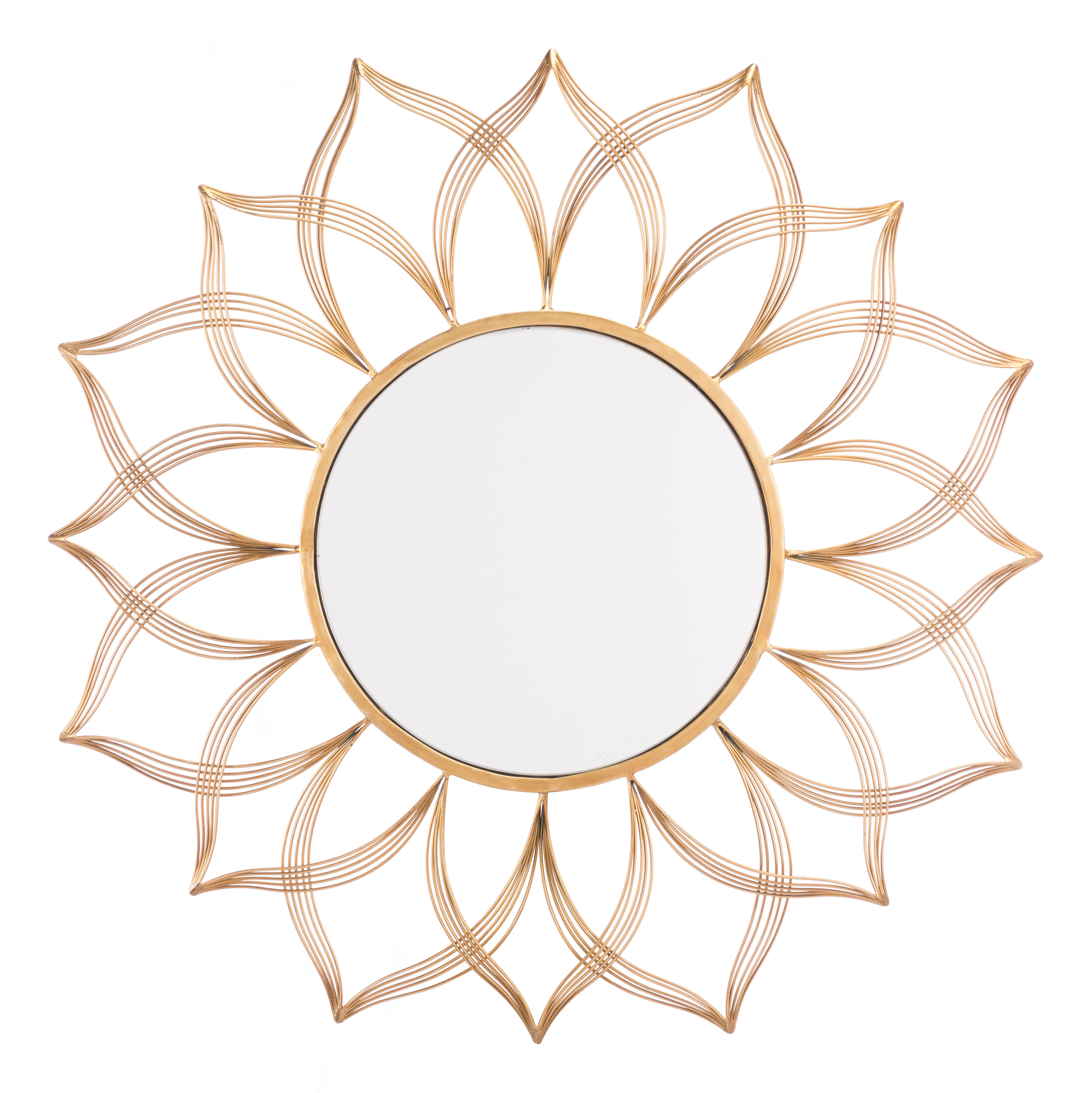 Abbotsford Flower Accent Mirror & Reviews | Joss & Main Intended For Brynn Accent Mirrors (View 20 of 30)