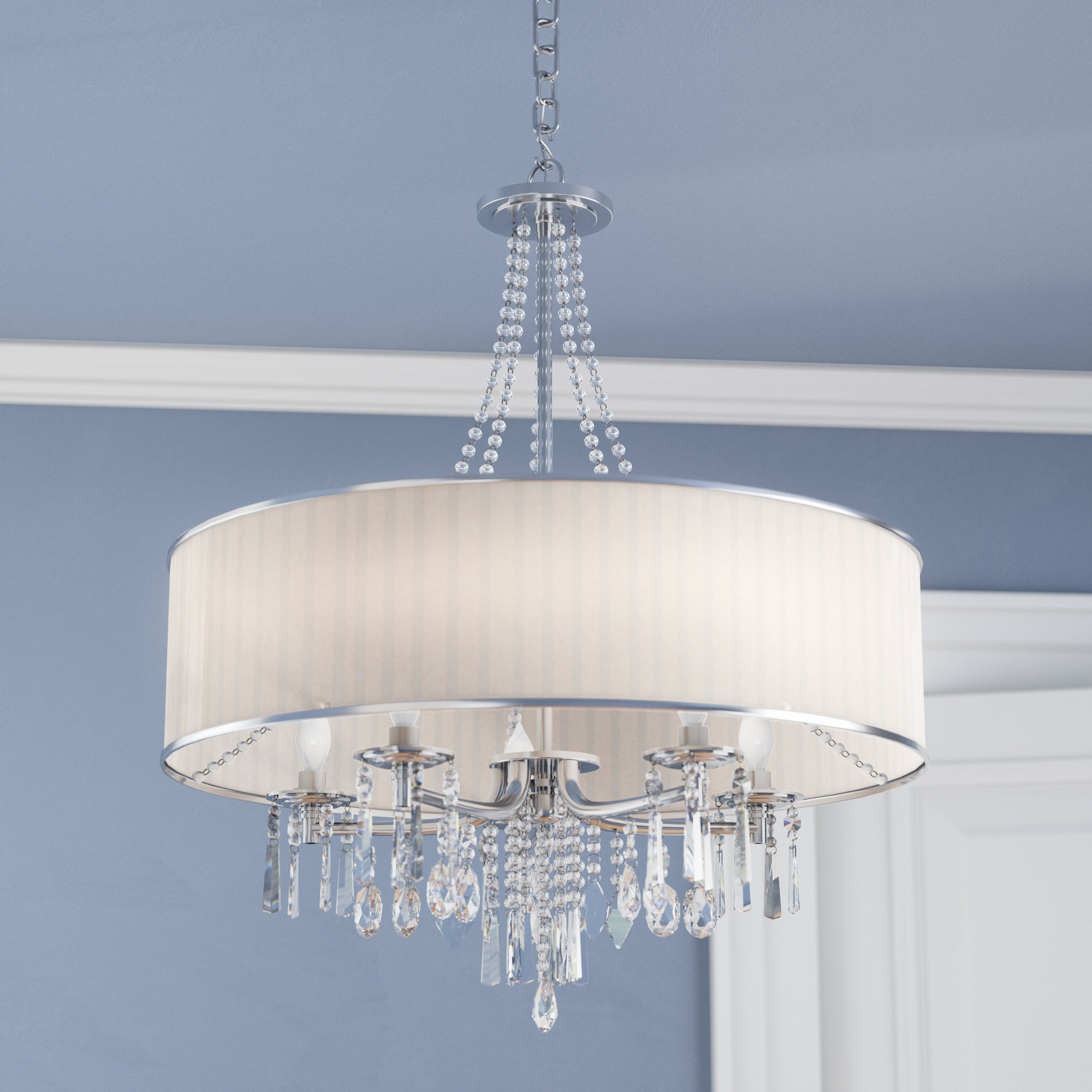 Featured Photo of Abel 5 Light Drum Chandeliers