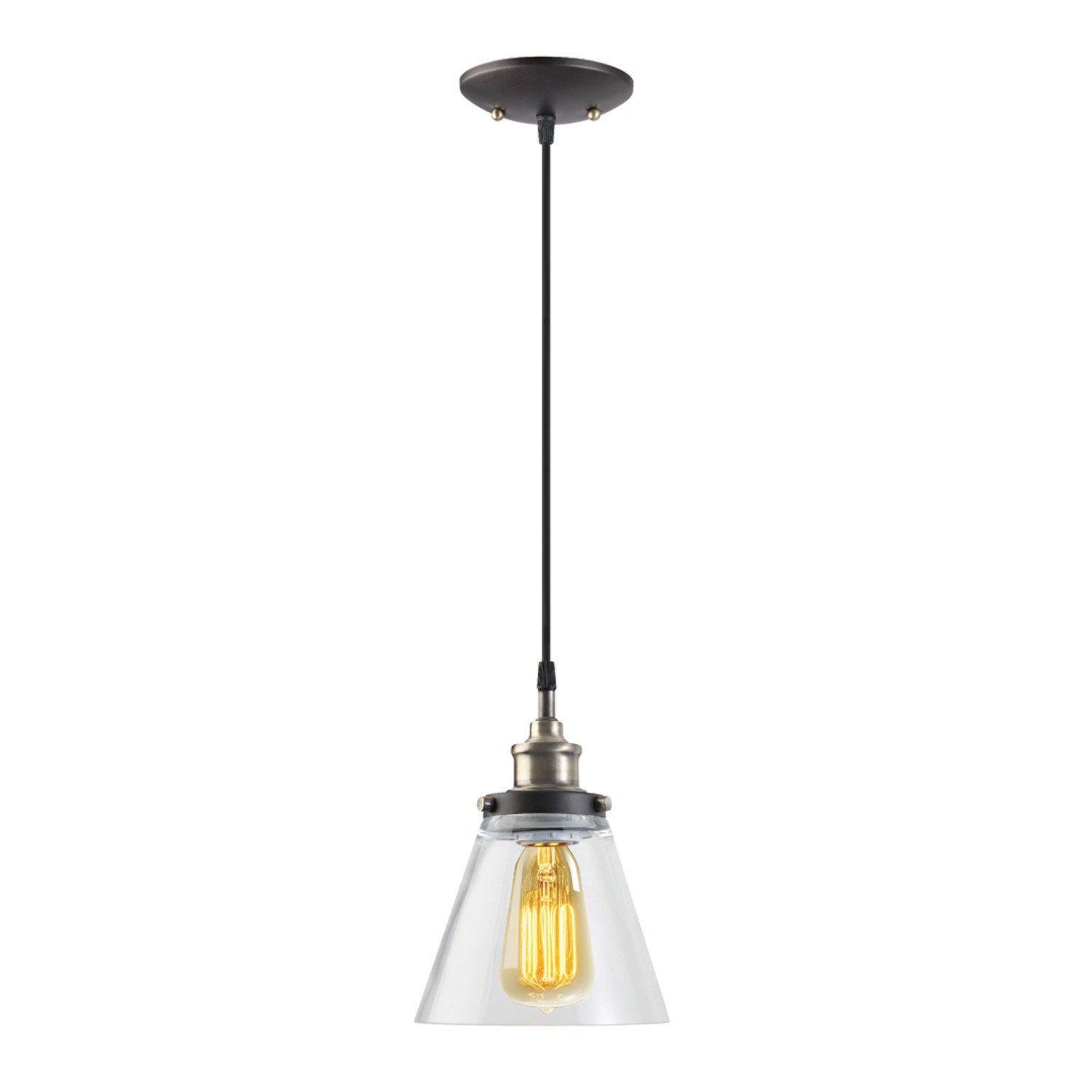 Abelia 1 Light Single Cone Pendant Intended For Cinchring 1 Light Cone Pendants (View 2 of 30)
