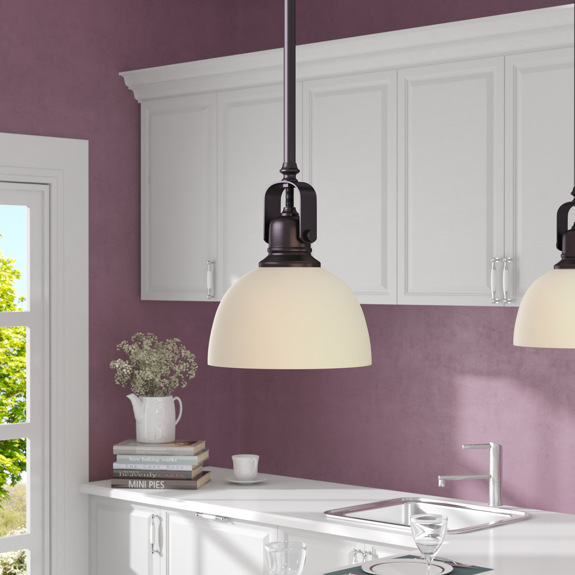 Featured Photo of Abernathy 1 Light Dome Pendants