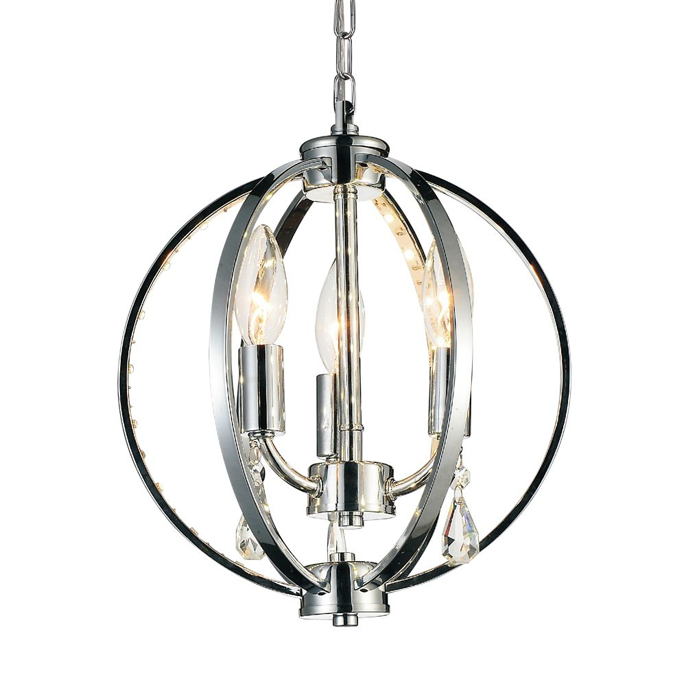 Abia 10 Inch 3 Light Mini Pendants With Chrome Finish intended for Armande 3-Light Lantern Geometric Pendants (Image 2 of 30)