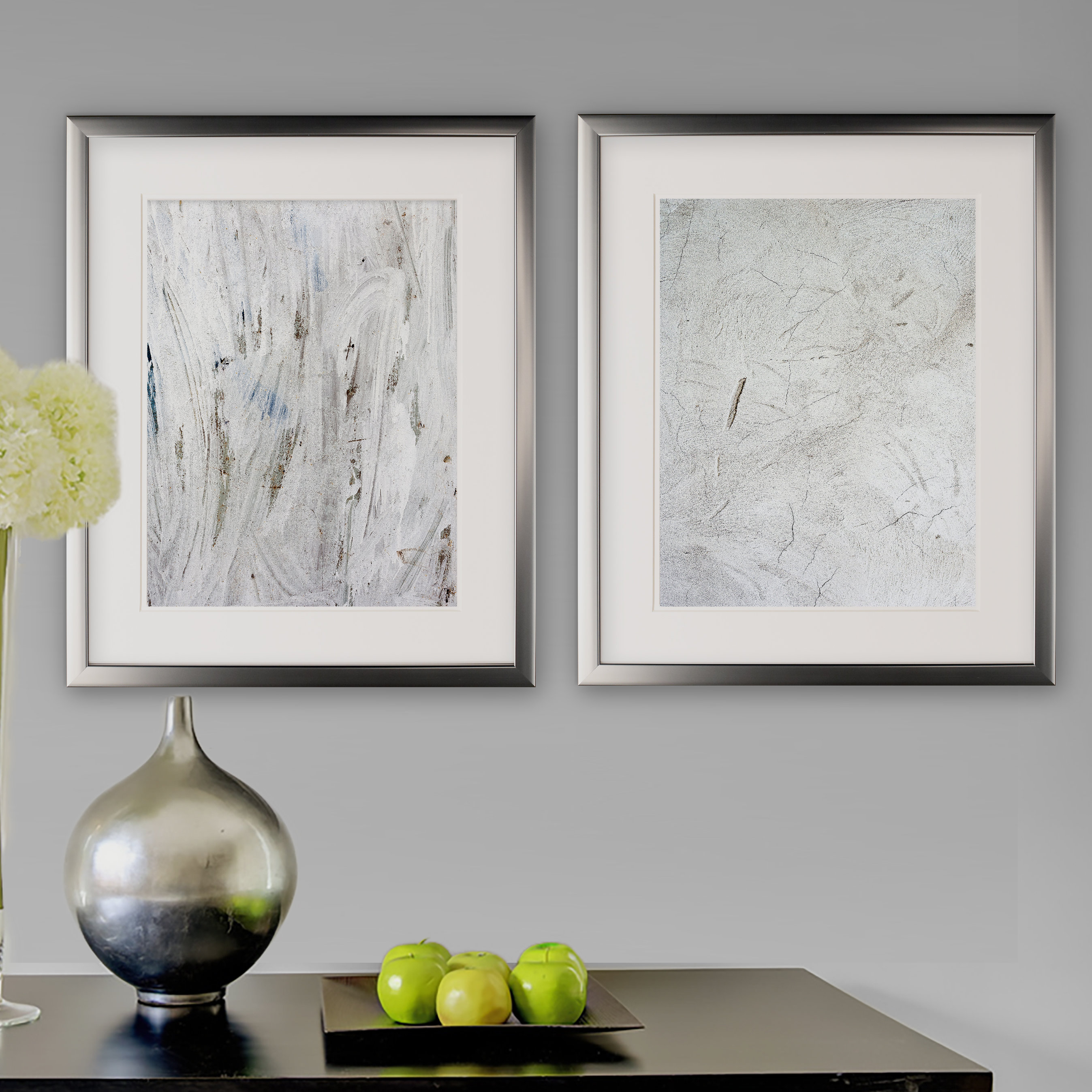 'abstract Stone I' 2 Piece Framed Graphic Art Print Set intended for 3 Piece Wall Decor Sets By Wrought Studio (Image 1 of 30)