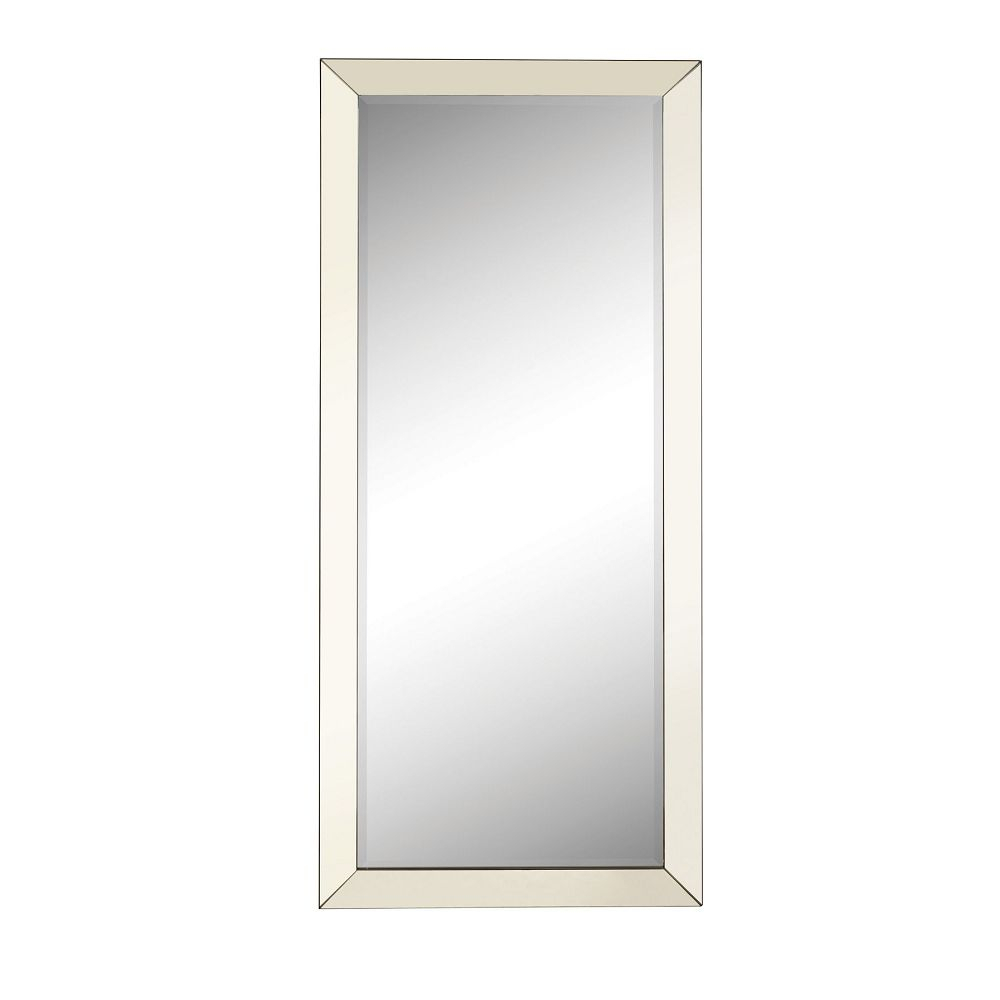 Accent Mirrors Contemporary Floor Mirror With Mirrored Frame Regarding Silver Frame Accent Mirrors (View 5 of 30)