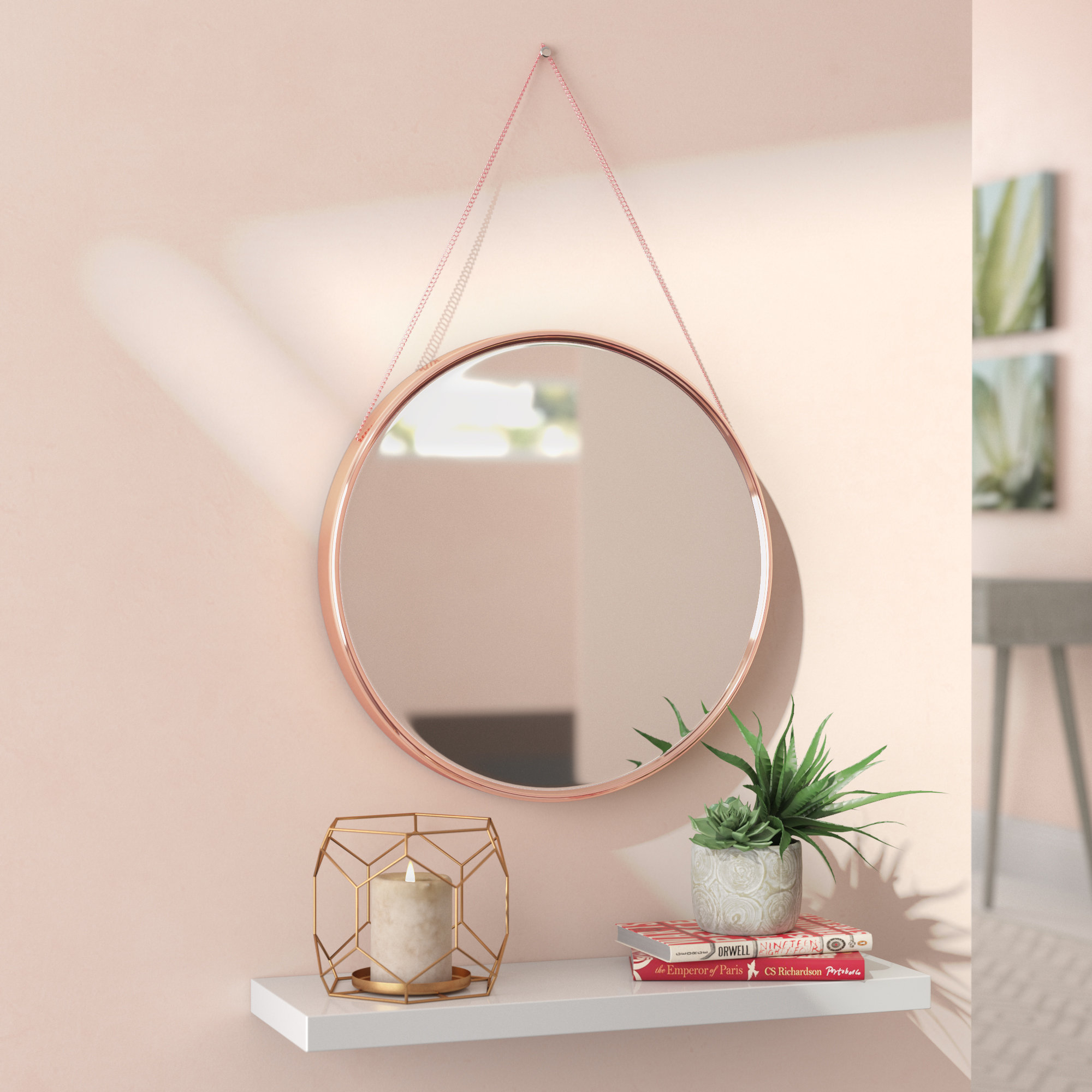 Accent Round Mirrors You'll Love In 2019 | Wayfair Inside Brynn Accent Mirrors (View 3 of 30)