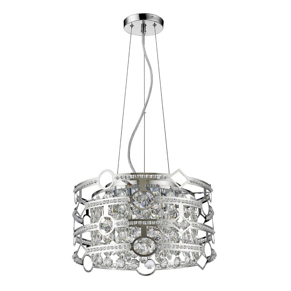 Acclaim Lighting Meghan Indoor 5 Light Chandelier With Crystal In Polished Nickel Within Gaines 5 Light Shaded Chandeliers (View 22 of 30)