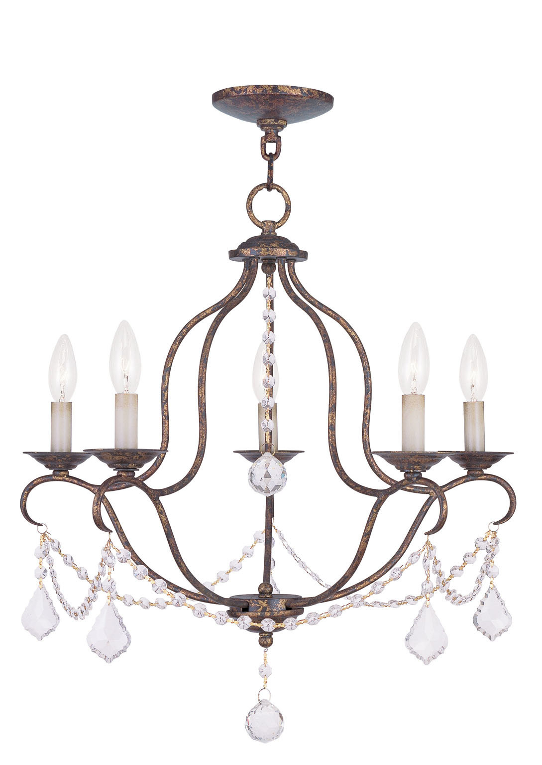 Accomac 5 Light Candle Style Chandelier With Regard To Florentina 5 Light Candle Style Chandeliers (View 22 of 30)